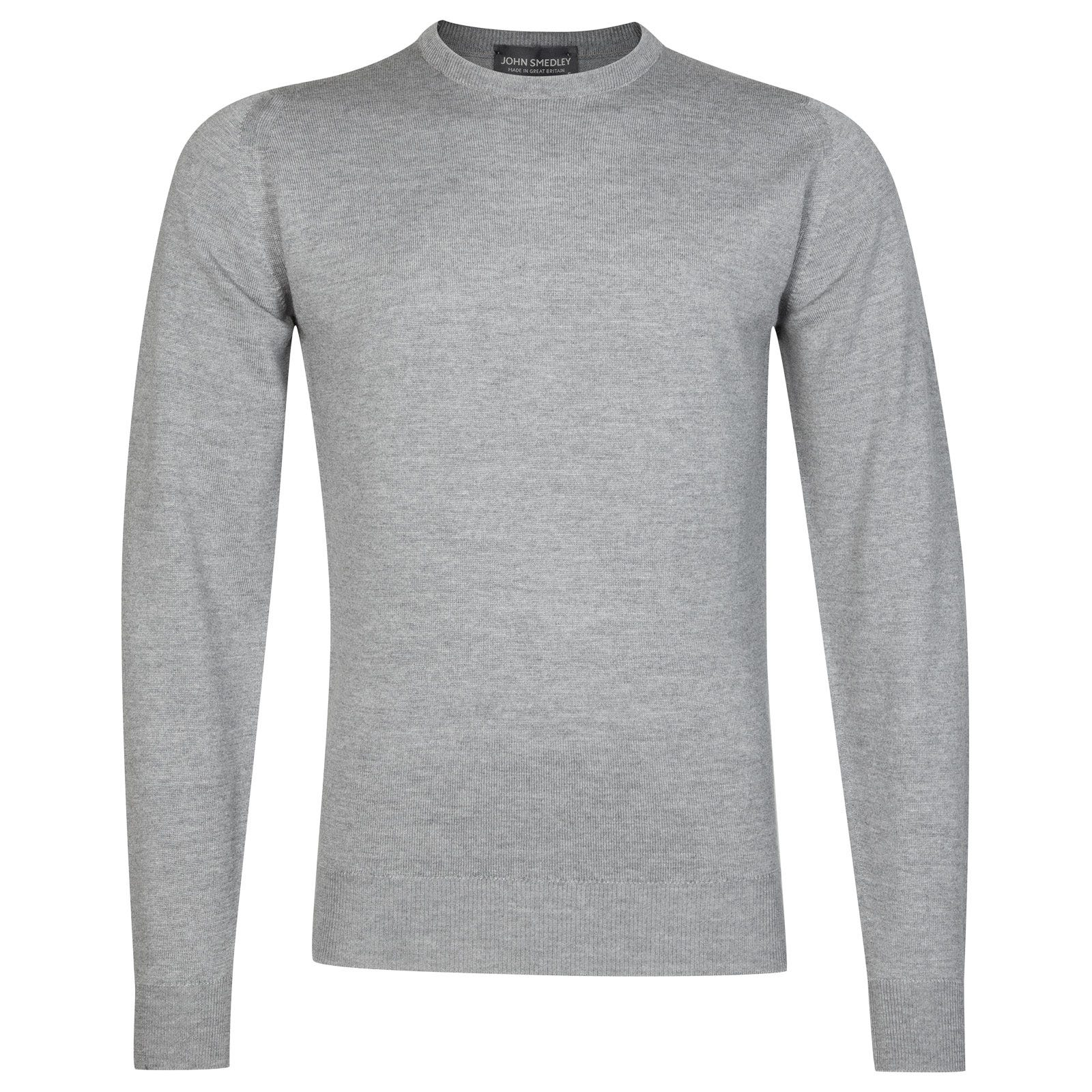 John Smedley farhill Merino Wool Pullover in Silver-XL