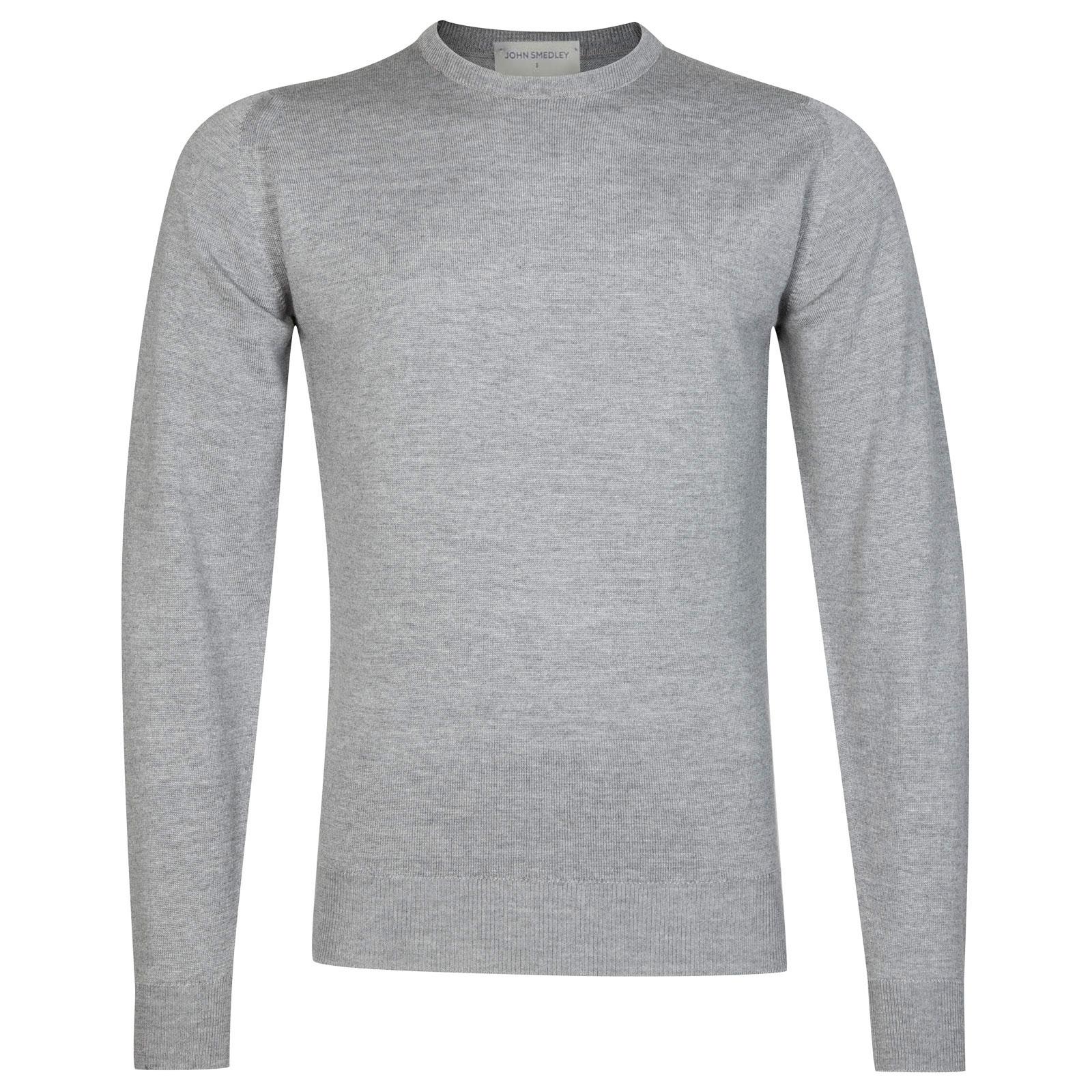 John Smedley Farhill Merino Wool Pullover in Silver-L