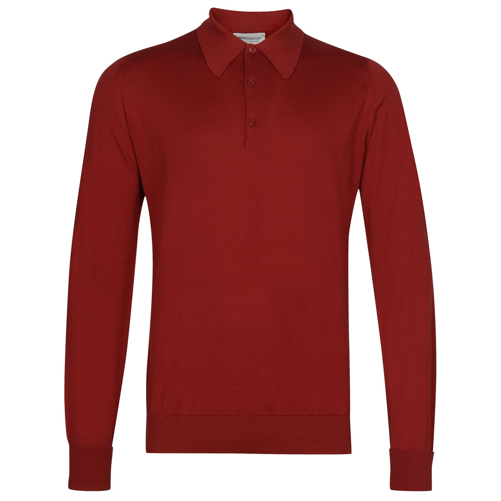John Smedley Finchley in Anther Red Shirt-XSM