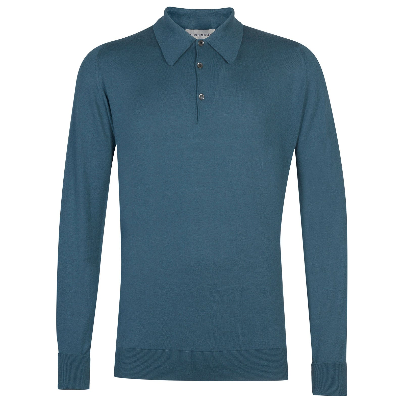 John Smedley Finchley Sea Island Cotton Shirt in Bias Blue-XL