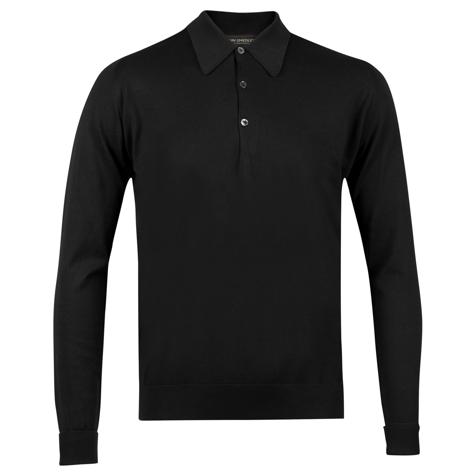 John Smedley finchley Sea Island Cotton Shirt in Black-XS