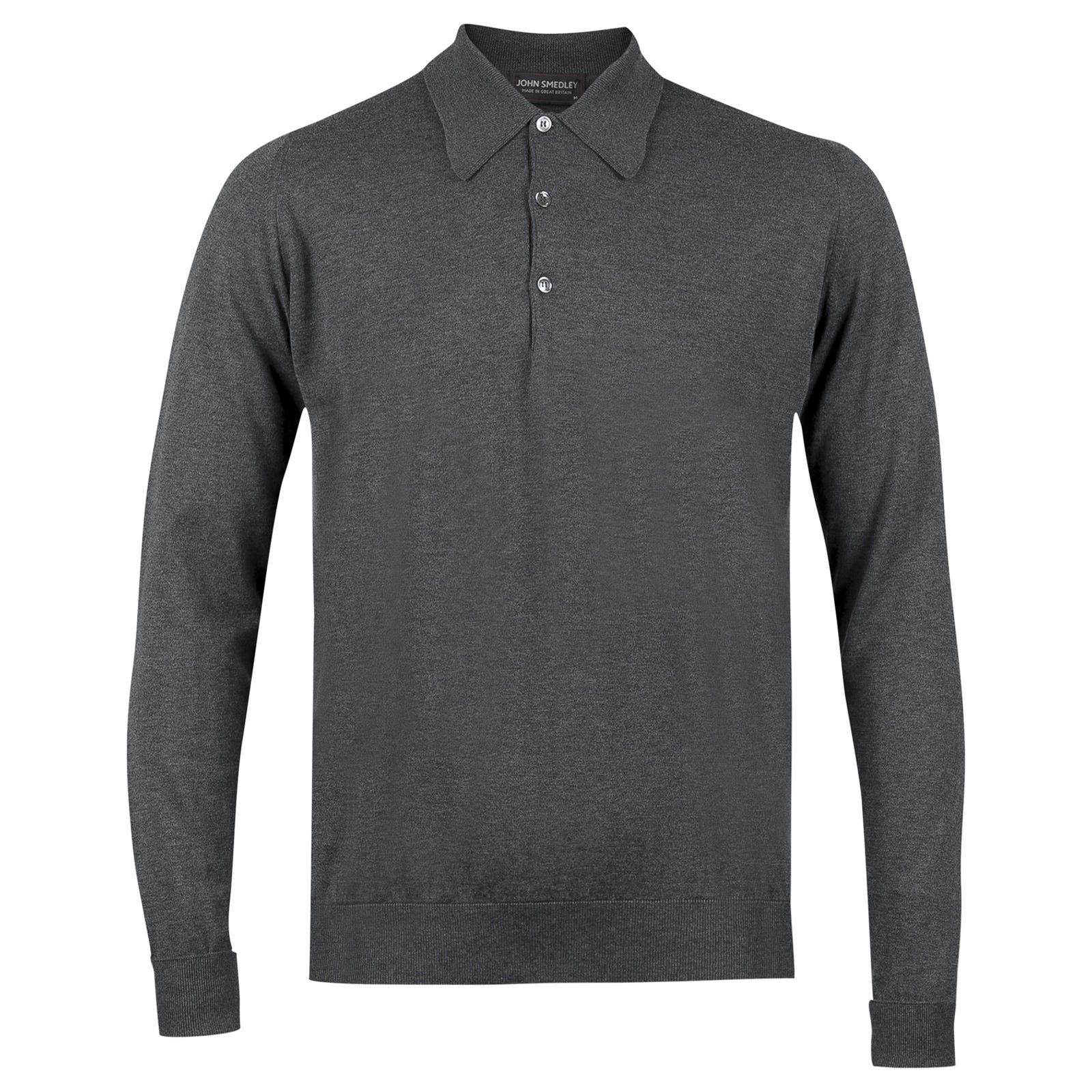 John Smedley finchley Sea Island Cotton Shirt in Charcoal-S