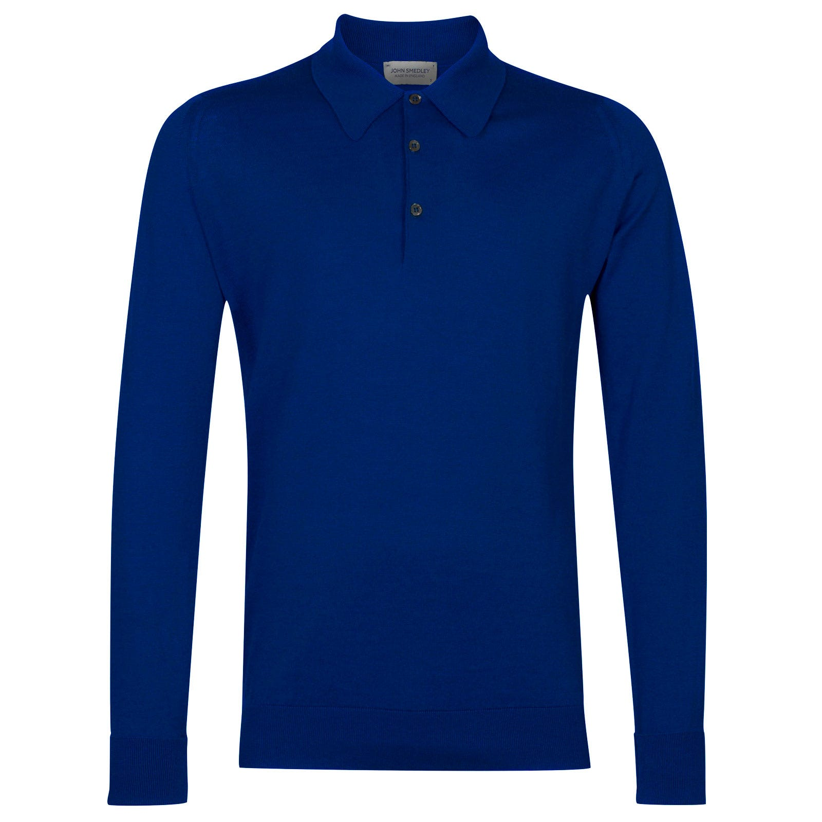 John Smedley finchley Sea Island Cotton Shirt in Coniston Blue-M