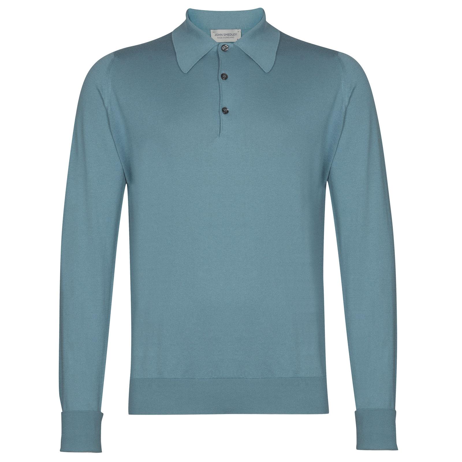John Smedley Finchley in Dewdrop Blue Shirt-XXL