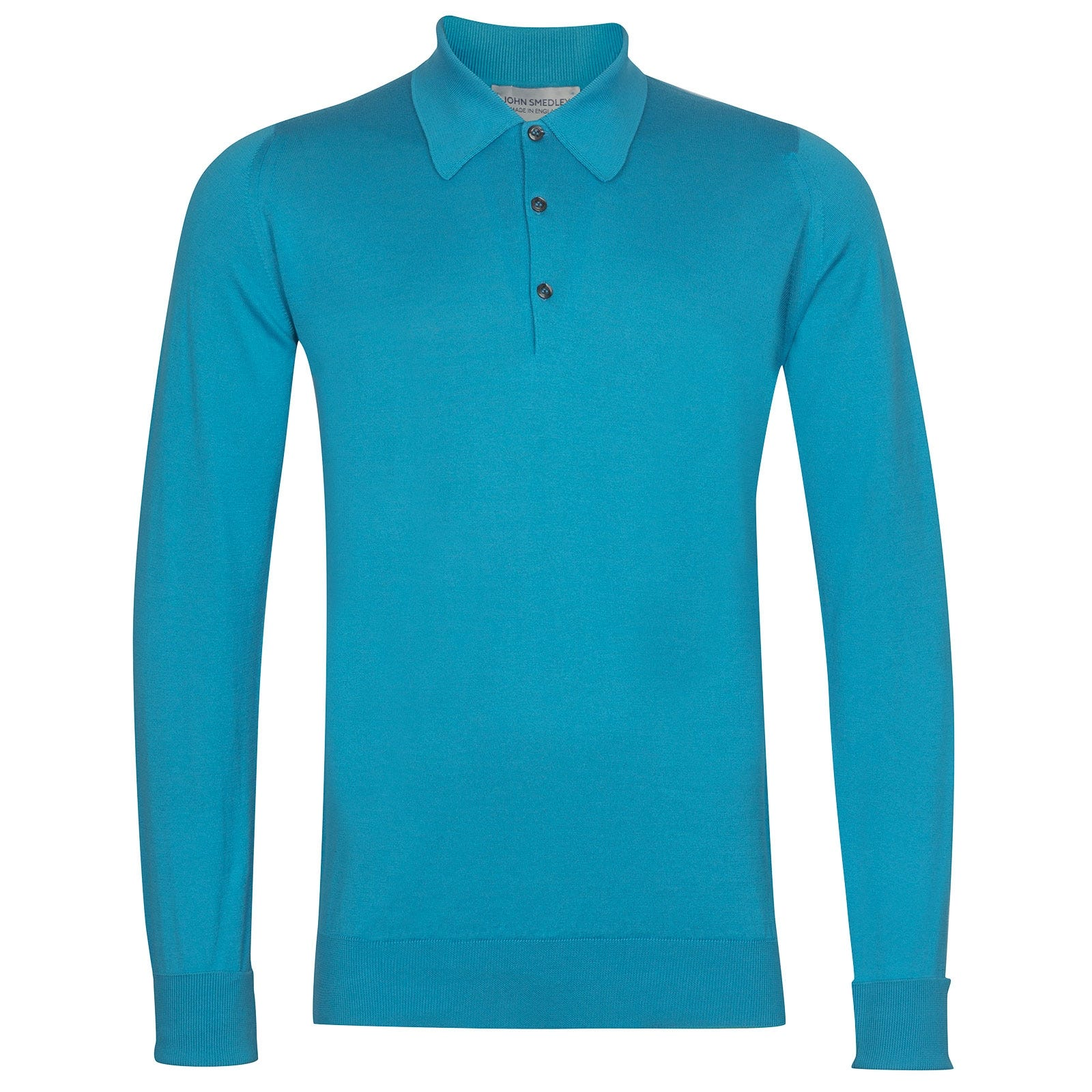 John Smedley Finchley Sea Island Cotton Shirt in Ionize Blue-XXL