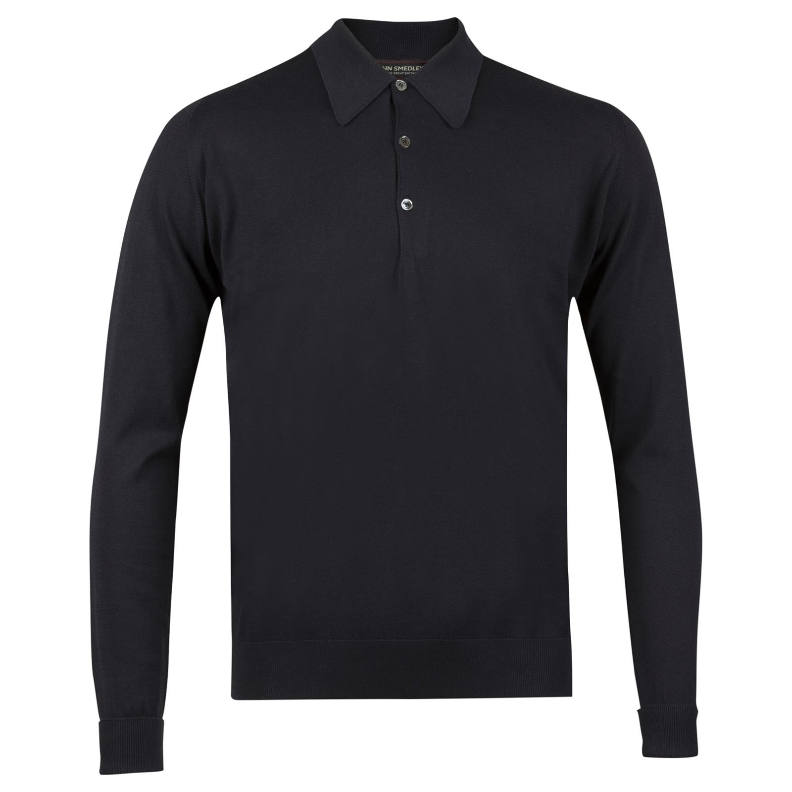 John Smedley finchley Sea Island Cotton Shirt in Navy-XXL