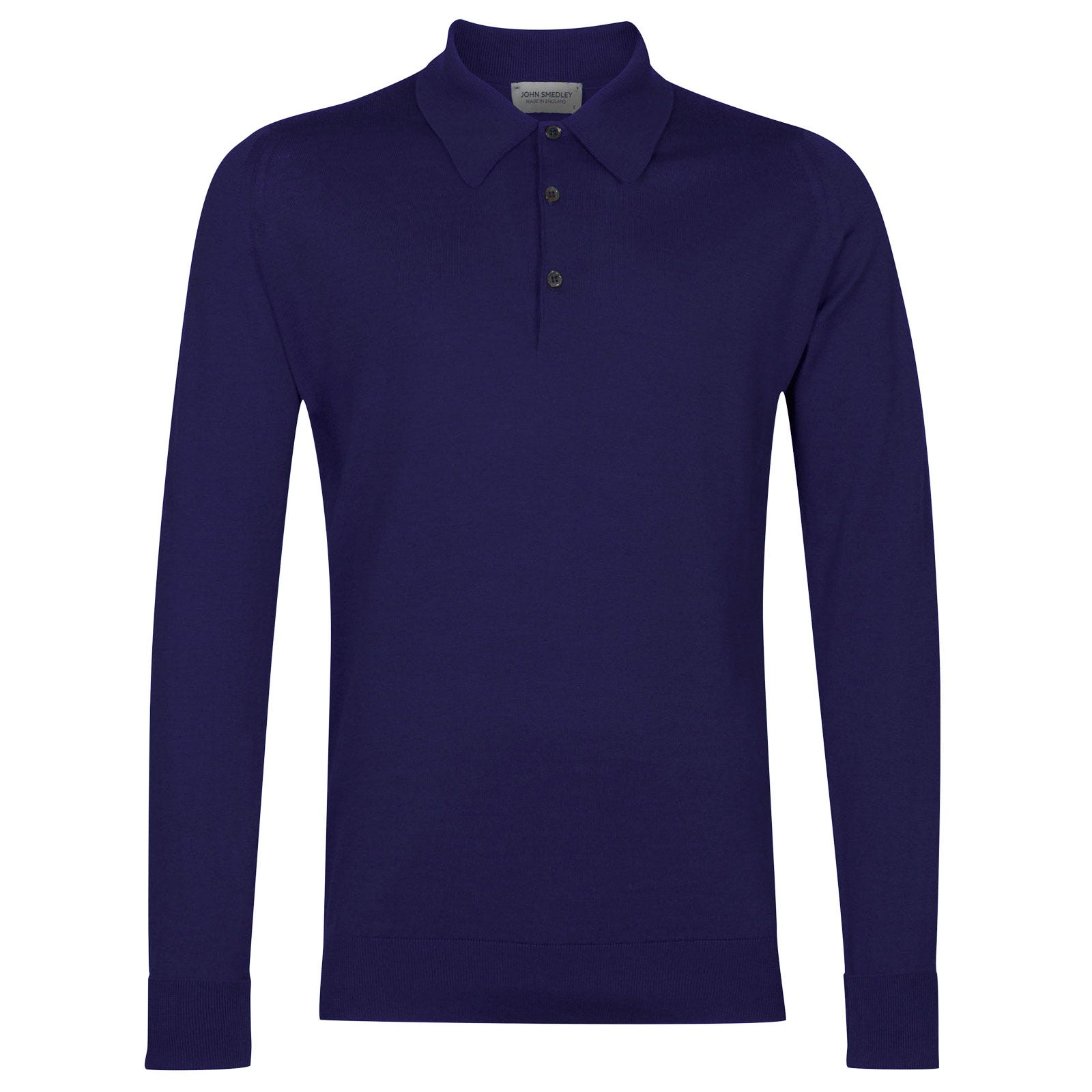 John Smedley Finchley Sea Island Cotton Shirt in Serge Blue-S