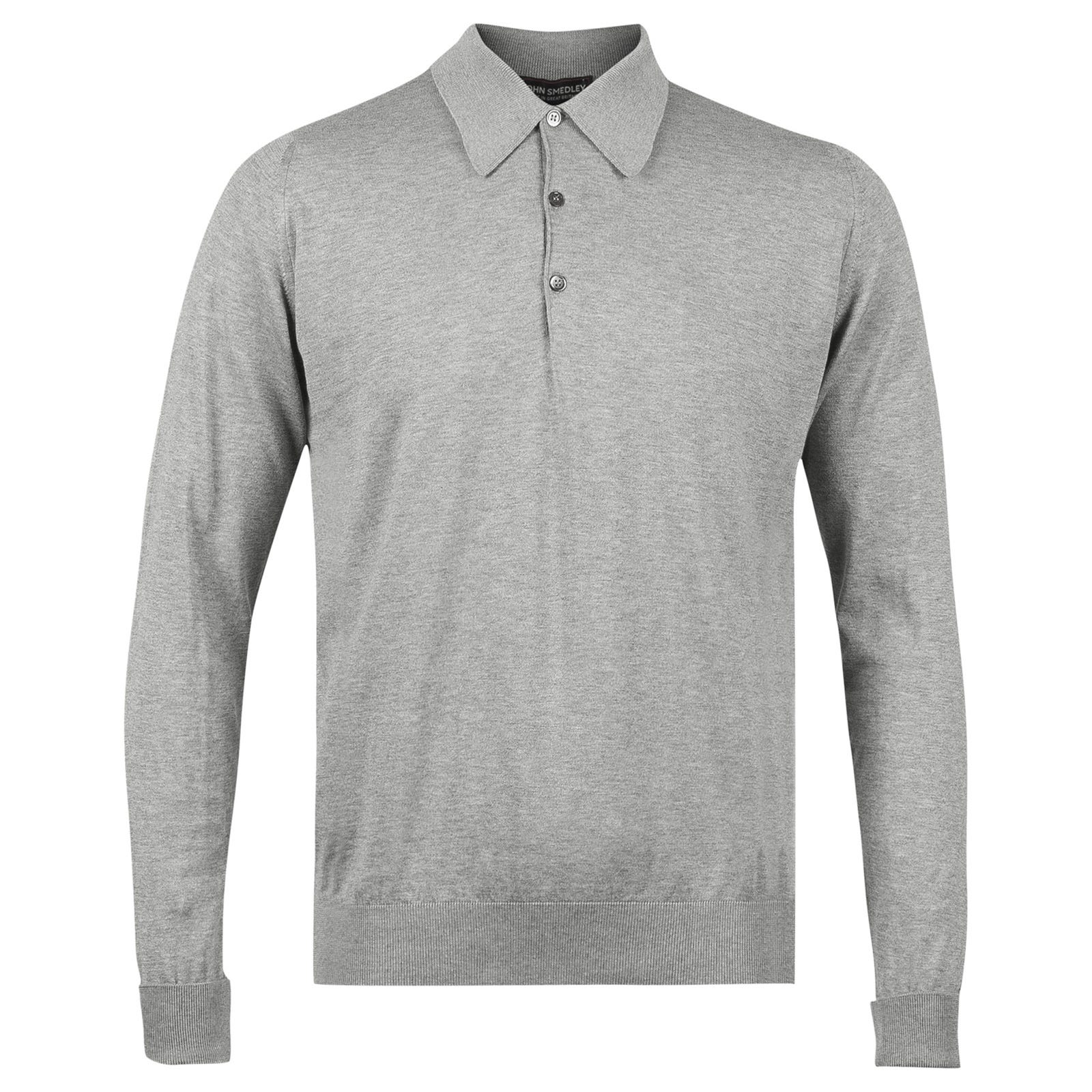 John Smedley finchley Sea Island Cotton Shirt in Silver-L