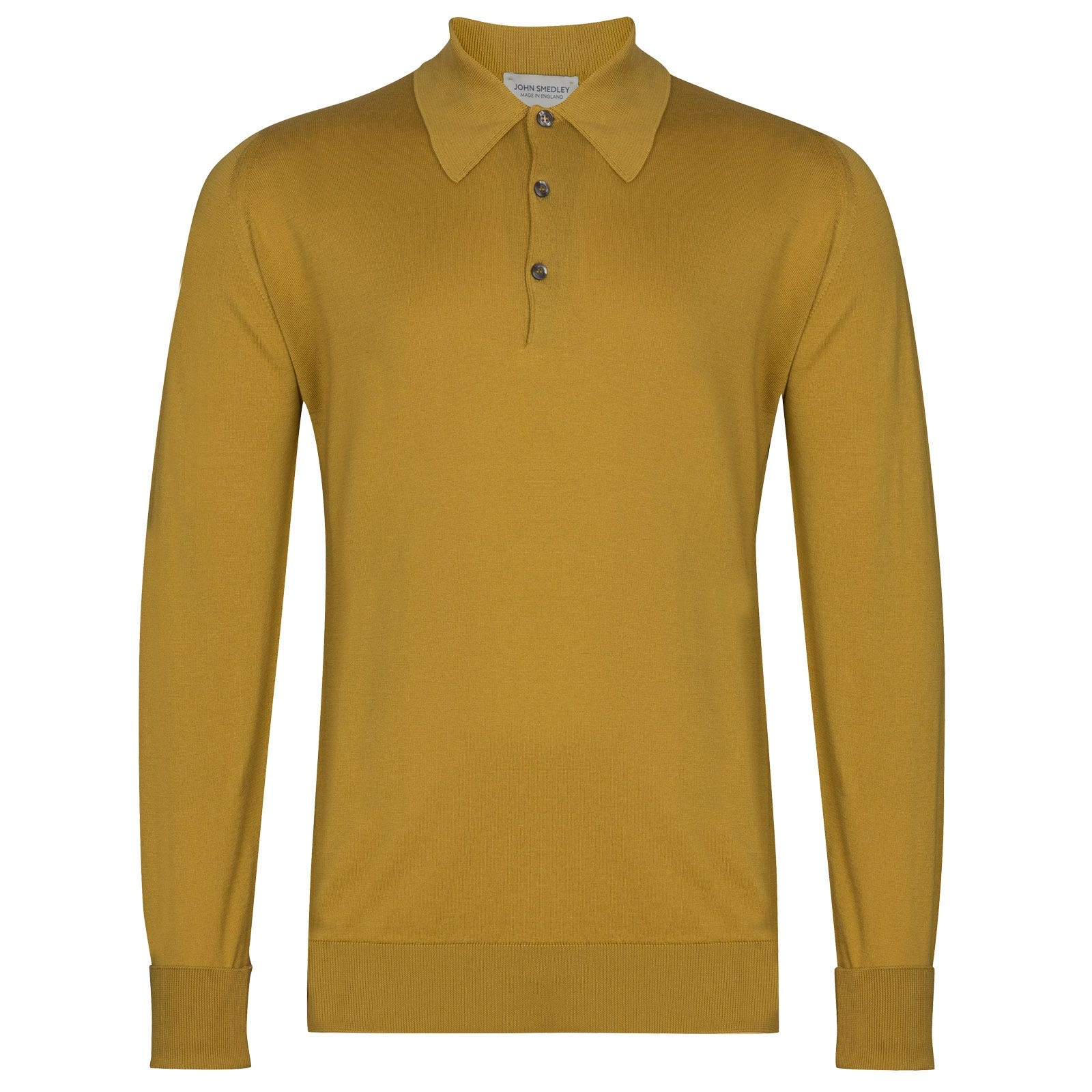 John Smedley Finchley in Stamen Yellow Shirt-XLG