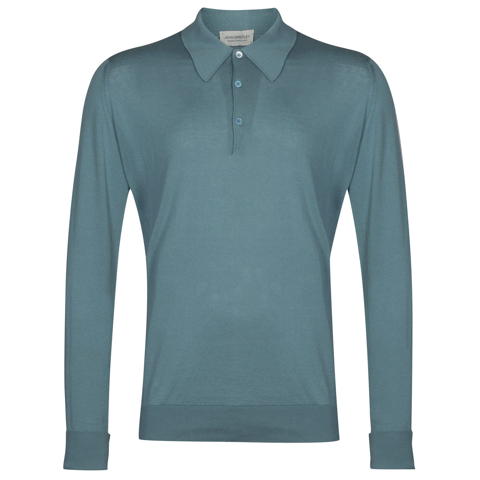 John Smedley finchley Sea Island Cotton Shirt in Summit Blue-XL