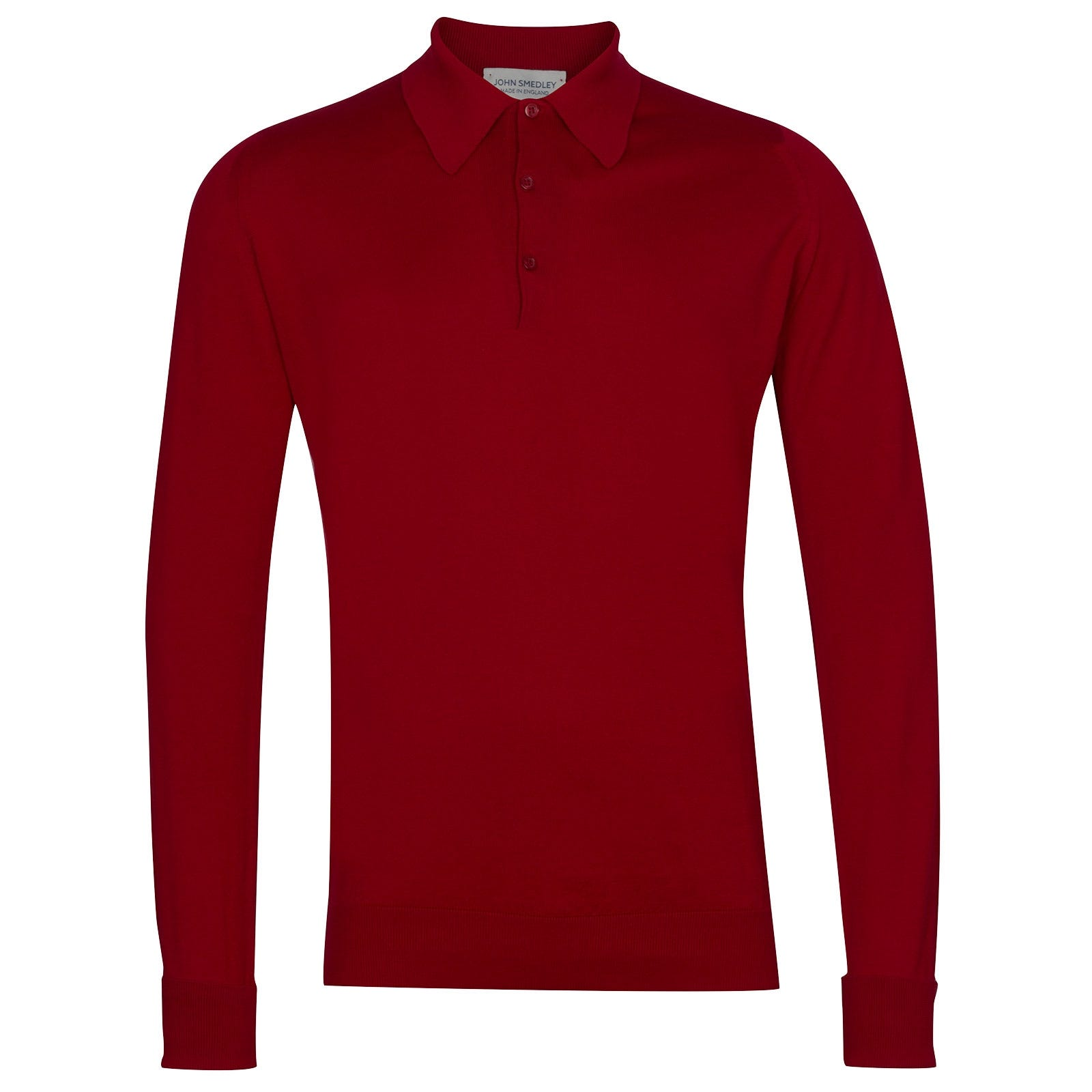 John Smedley Finchley Sea Island Cotton Shirt in Thermal Red-XXL
