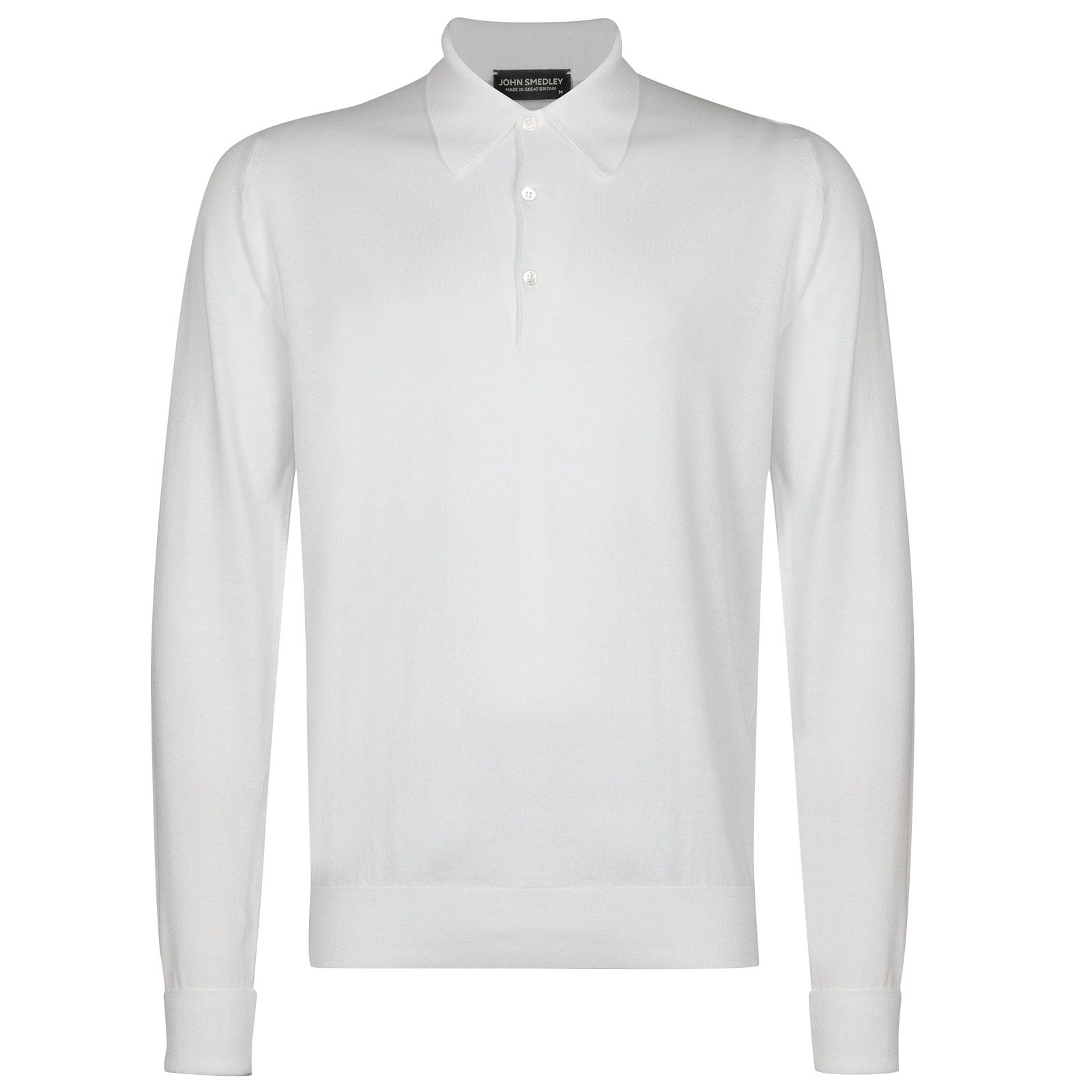 John Smedley finchley Sea Island Cotton Shirt in White-S