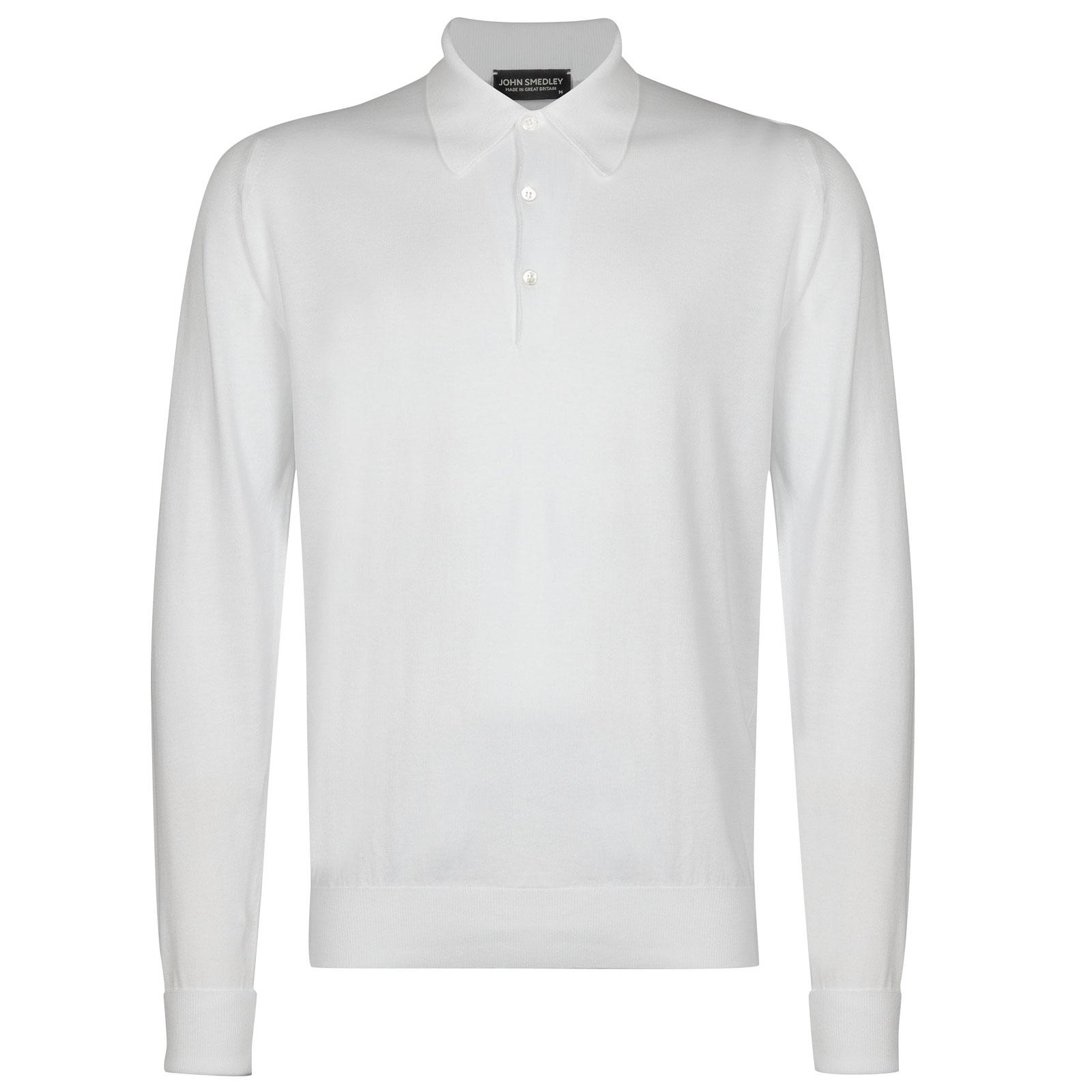 John Smedley finchley Sea Island Cotton Shirt in White-XS