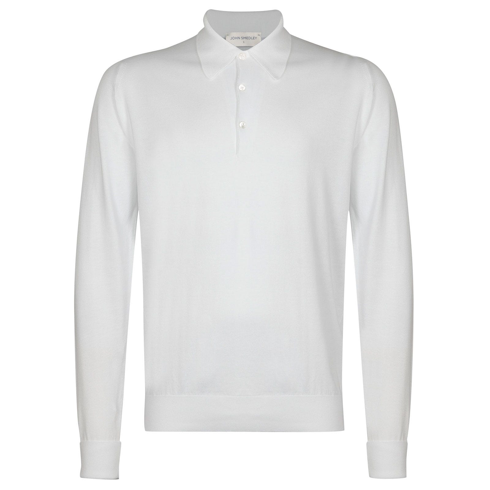John Smedley finchley Sea Island Cotton Shirt in White-M