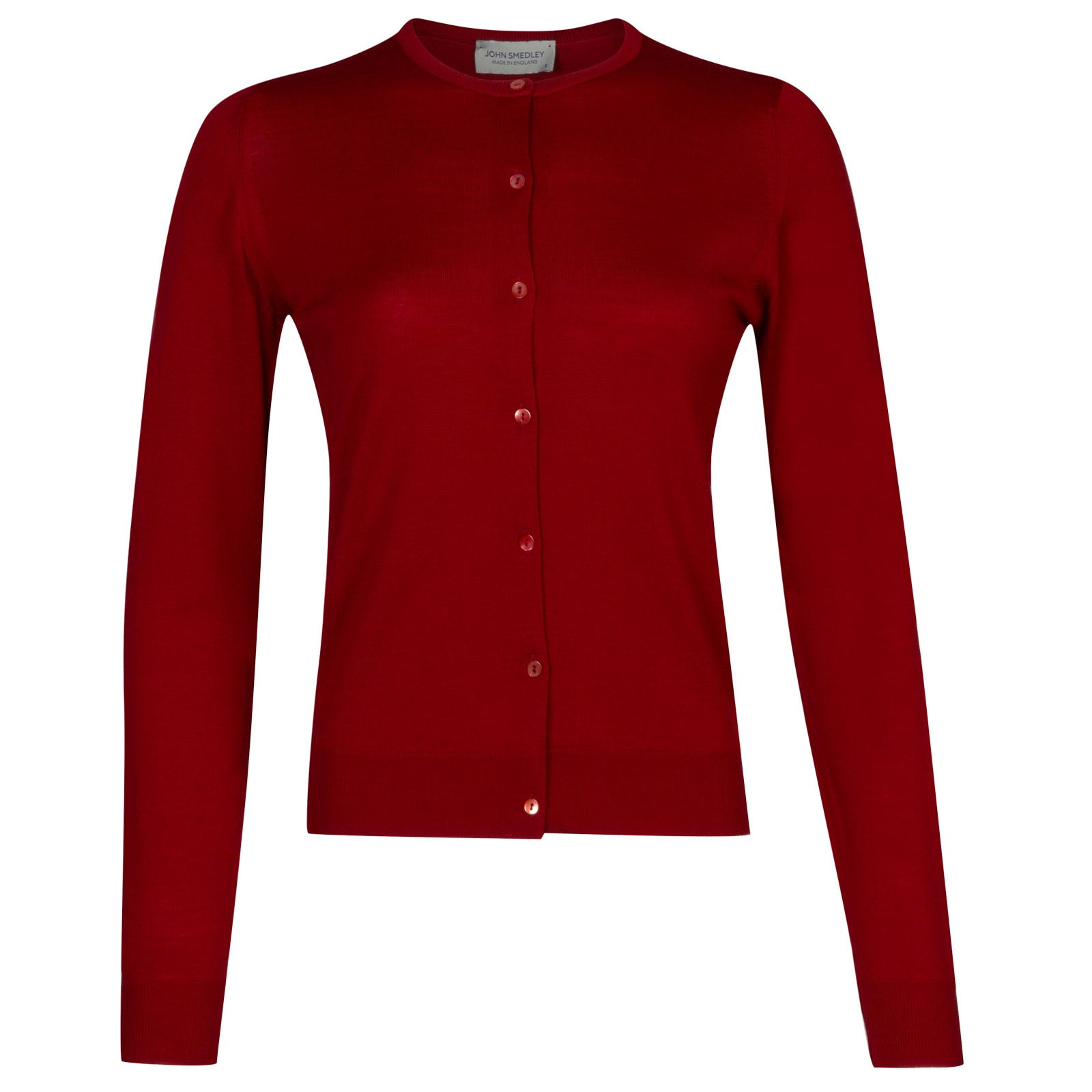John Smedley florence Merino Wool Cardigan in Crimson Forest-S