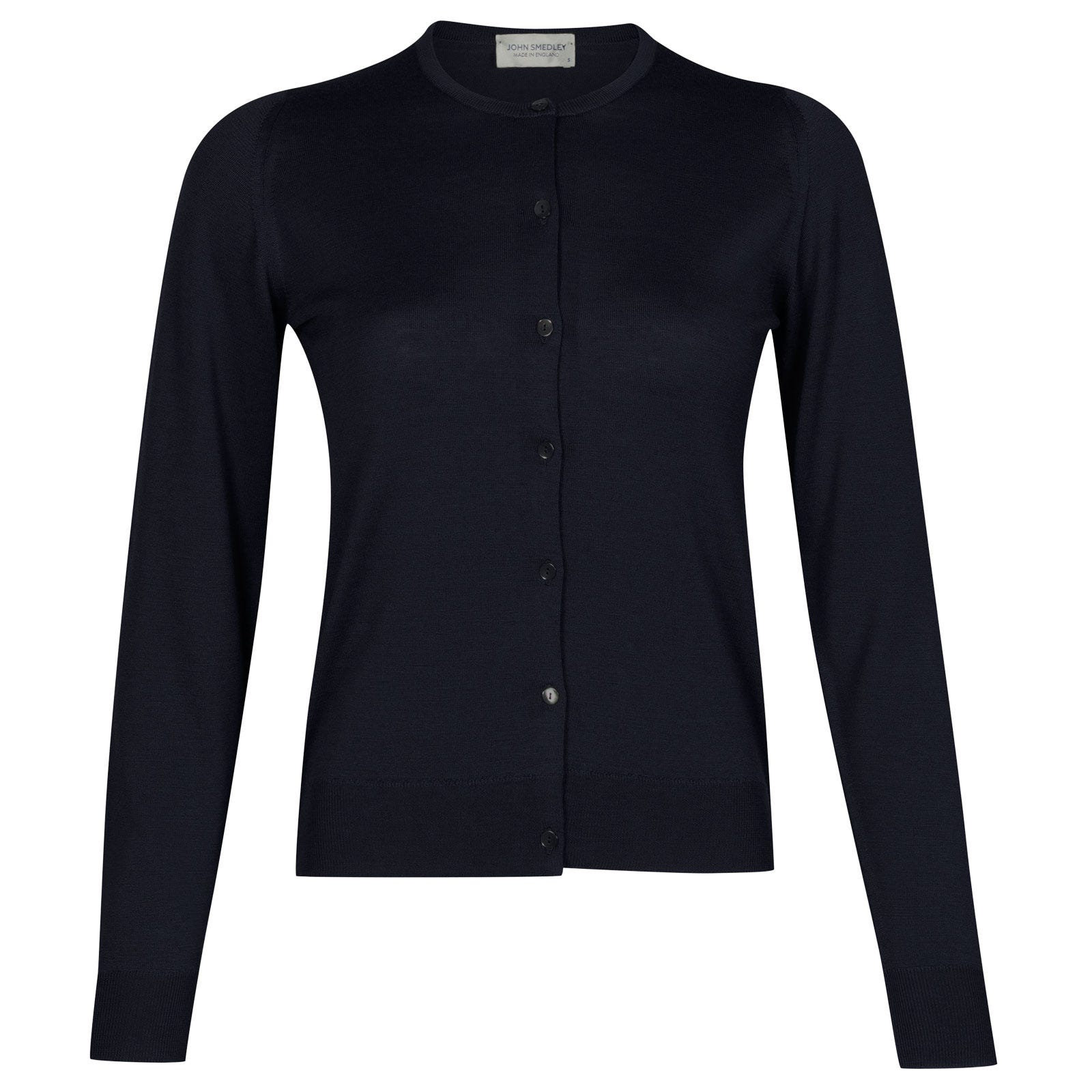 John Smedley florence Merino Wool Cardigan in Midnight-L