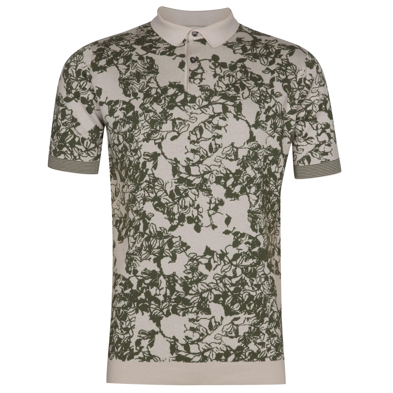 John Smedley Fyn in Brunel Beige Shirt-XLG