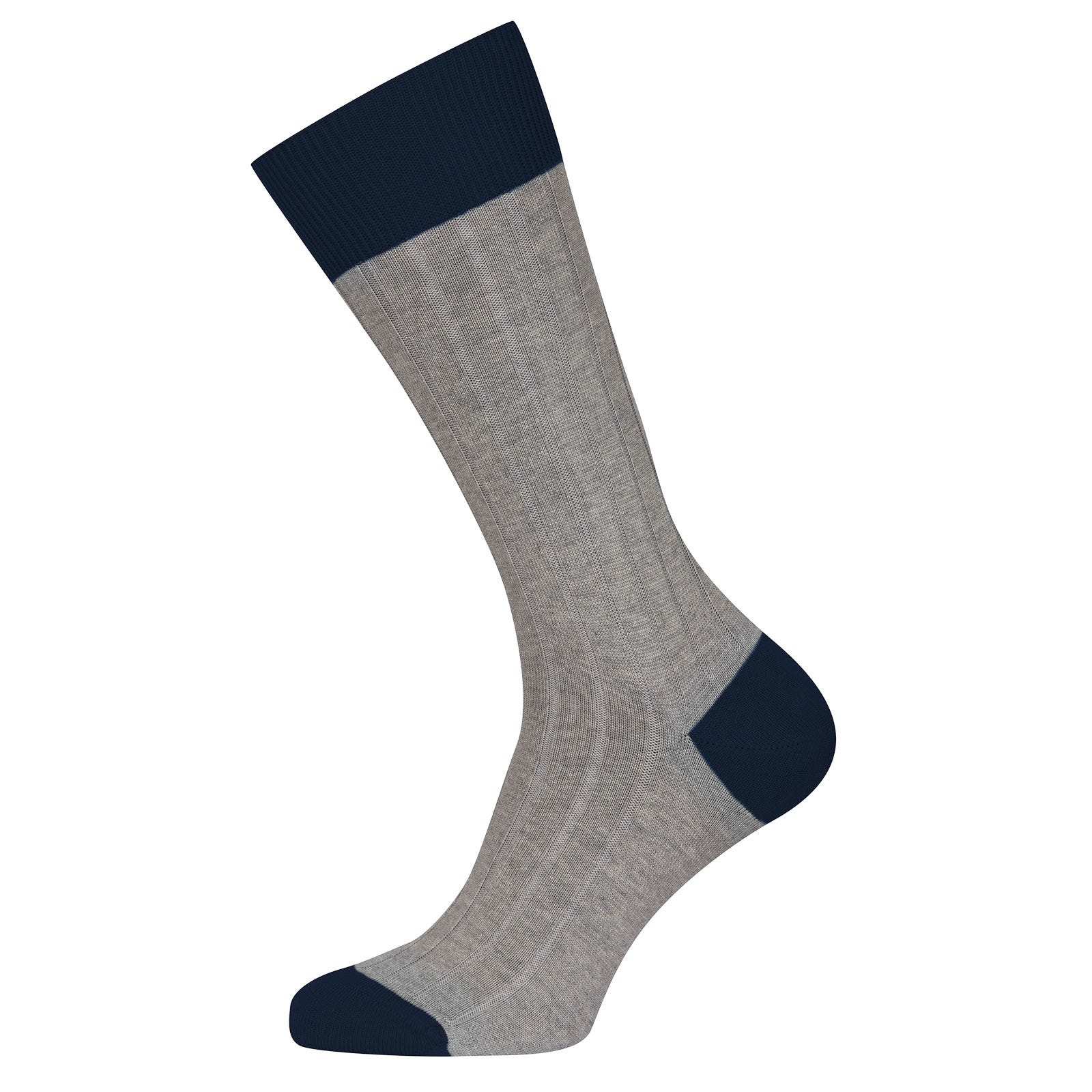 John Smedley Gamma in Silver Socks-M/L