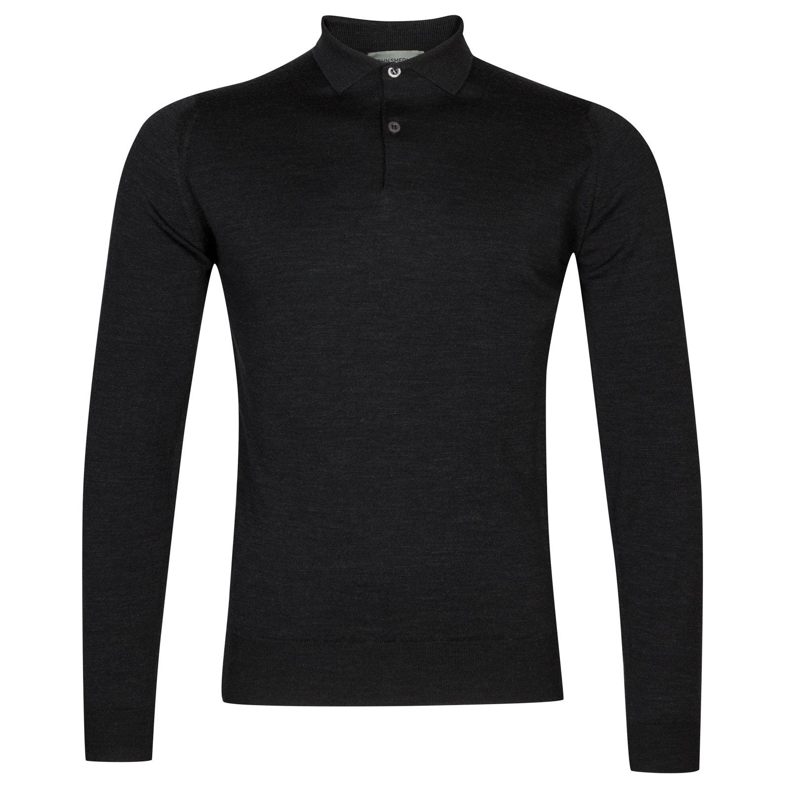 John Smedley garda Merino Wool Shirt in Hepburn Smoke-XL