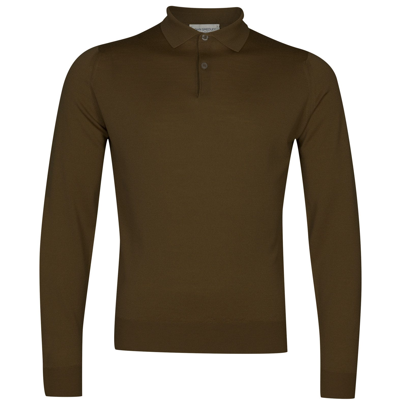 John Smedley garda Merino Wool Shirt in Kielder Green-XL