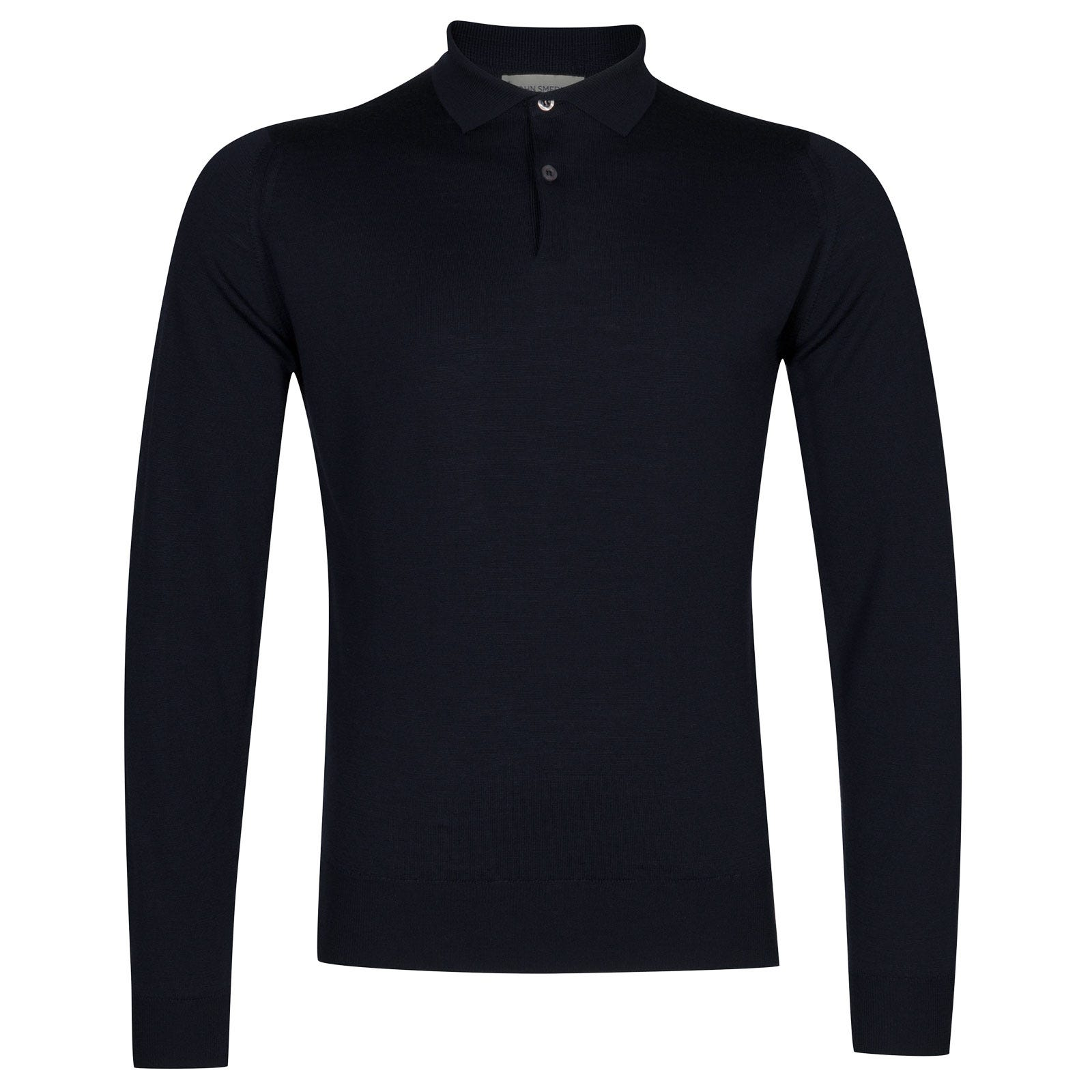 John Smedley garda Merino Wool Shirt in Midnight-XXL