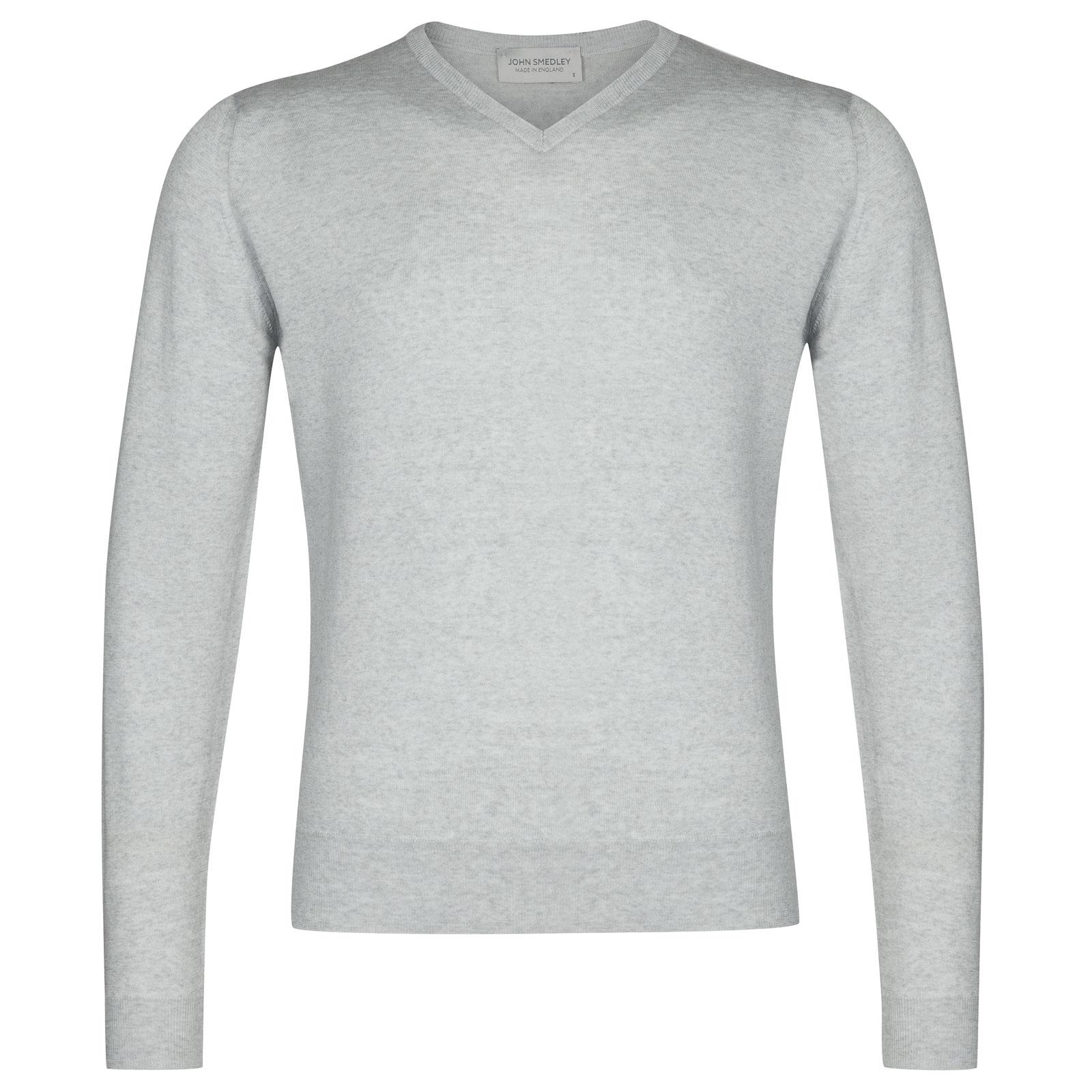 John Smedley Genoa Merino Wool Pullover in Bardot Grey-M