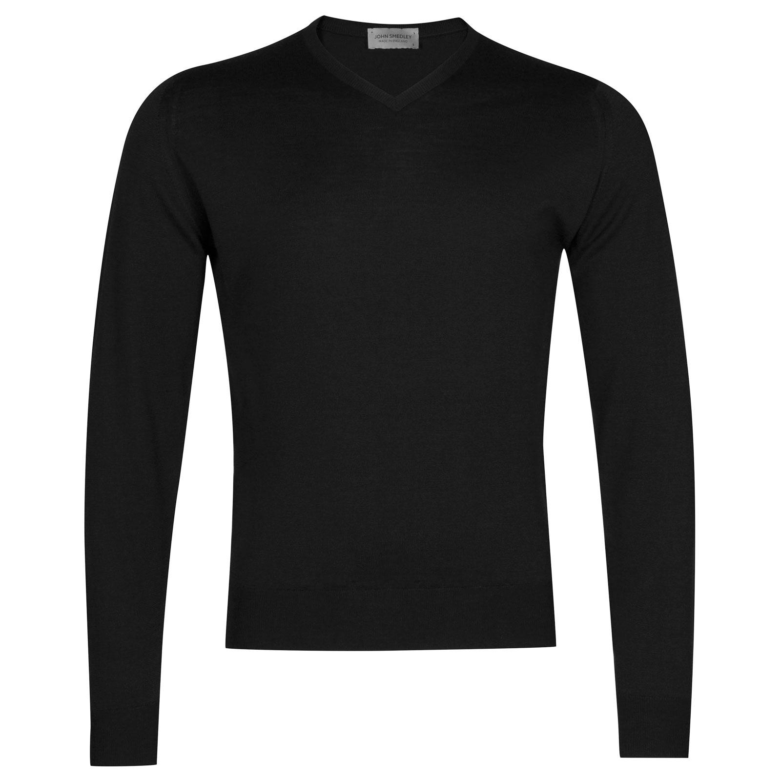 John Smedley Genoa Merino Wool Pullover in Black-L