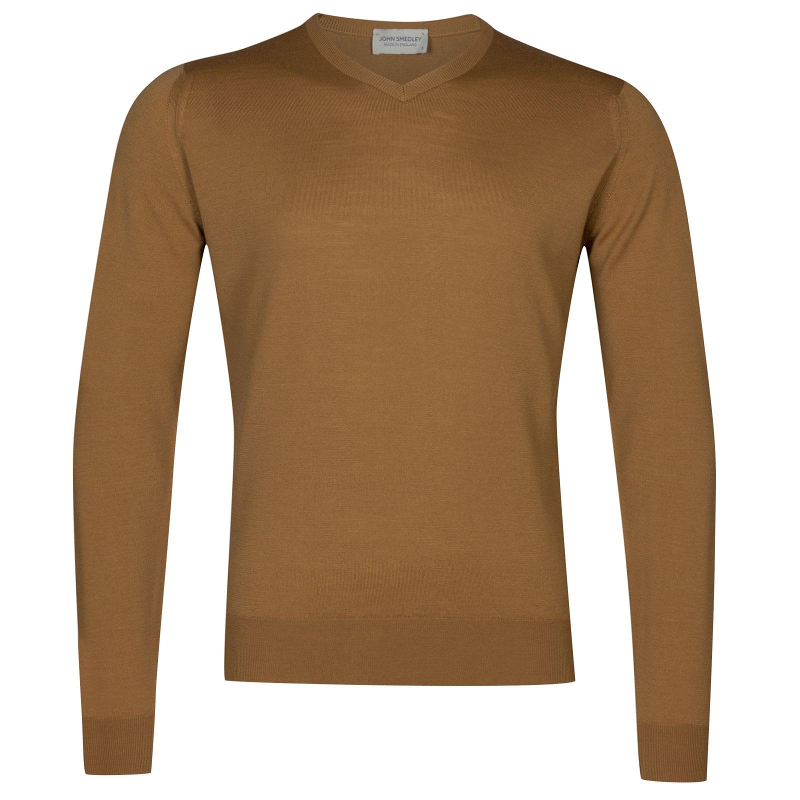 John Smedley Genoa Merino Wool Pullover in Camel-L