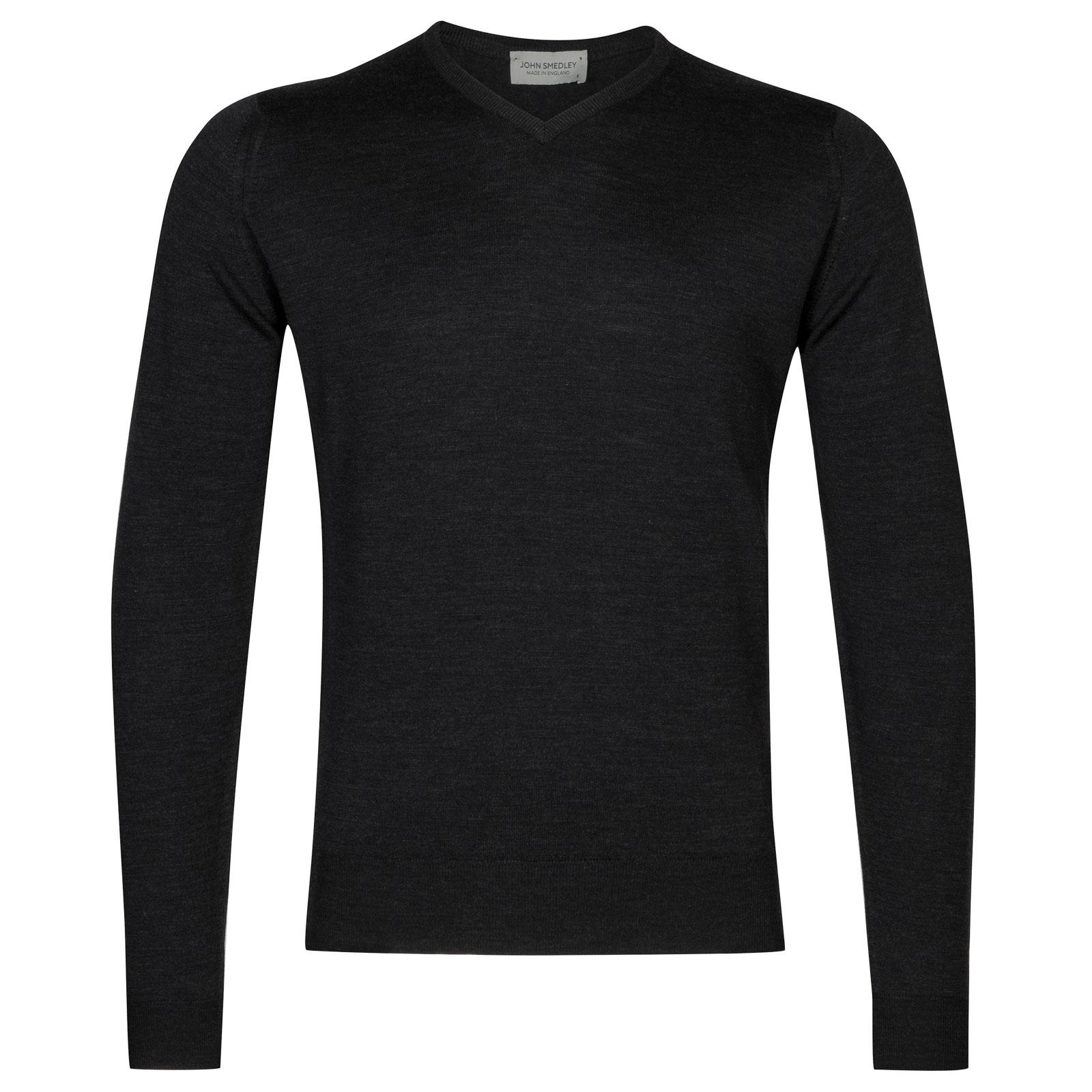 John Smedley Genoa Merino Wool Pullover in Hepburn Smoke-XL