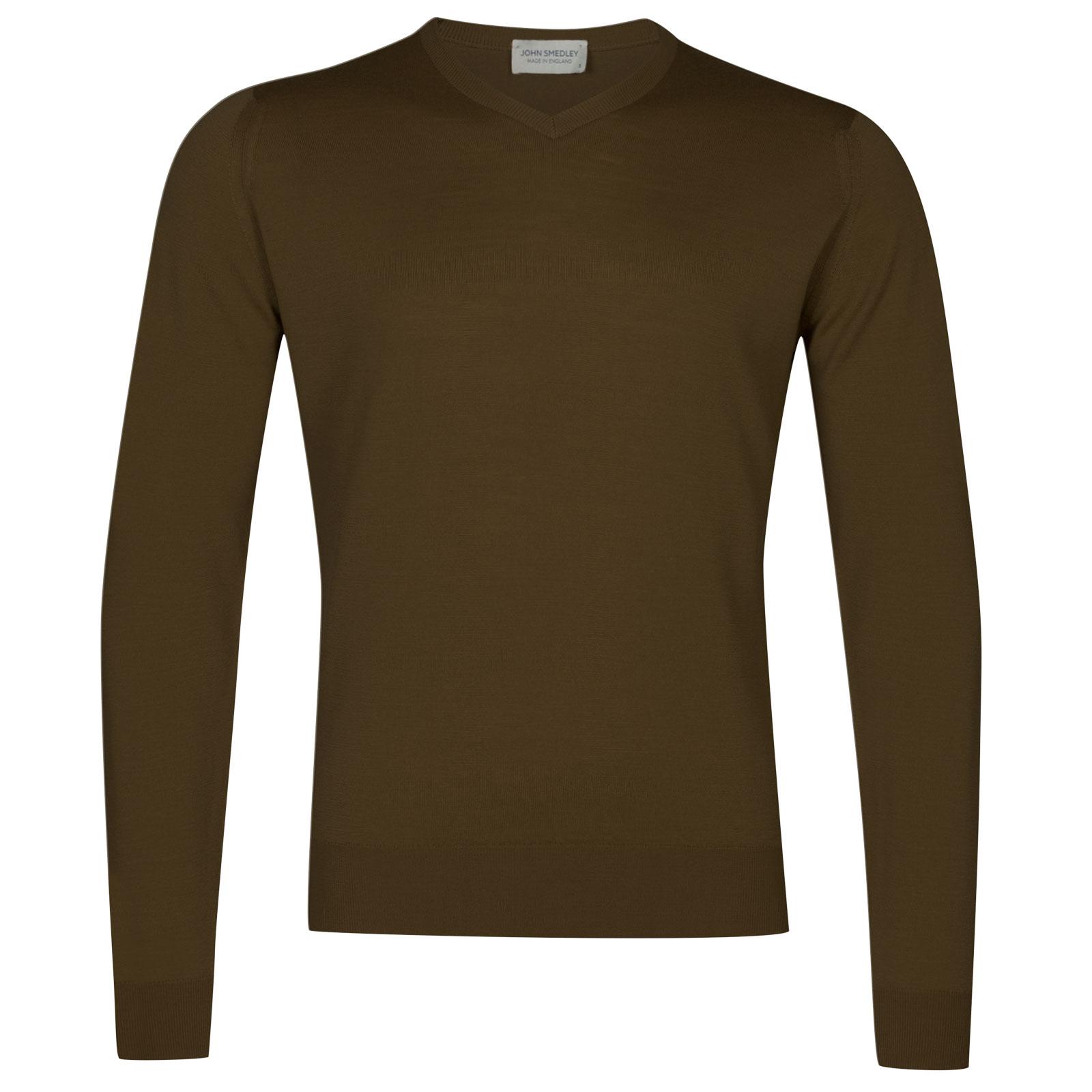 John Smedley genoa Merino Wool Pullover in Kielder Green-M