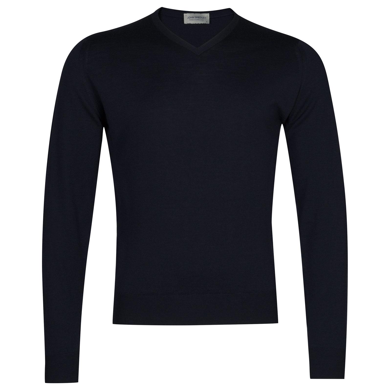 John Smedley Genoa Merino Wool Pullover in Midnight-M