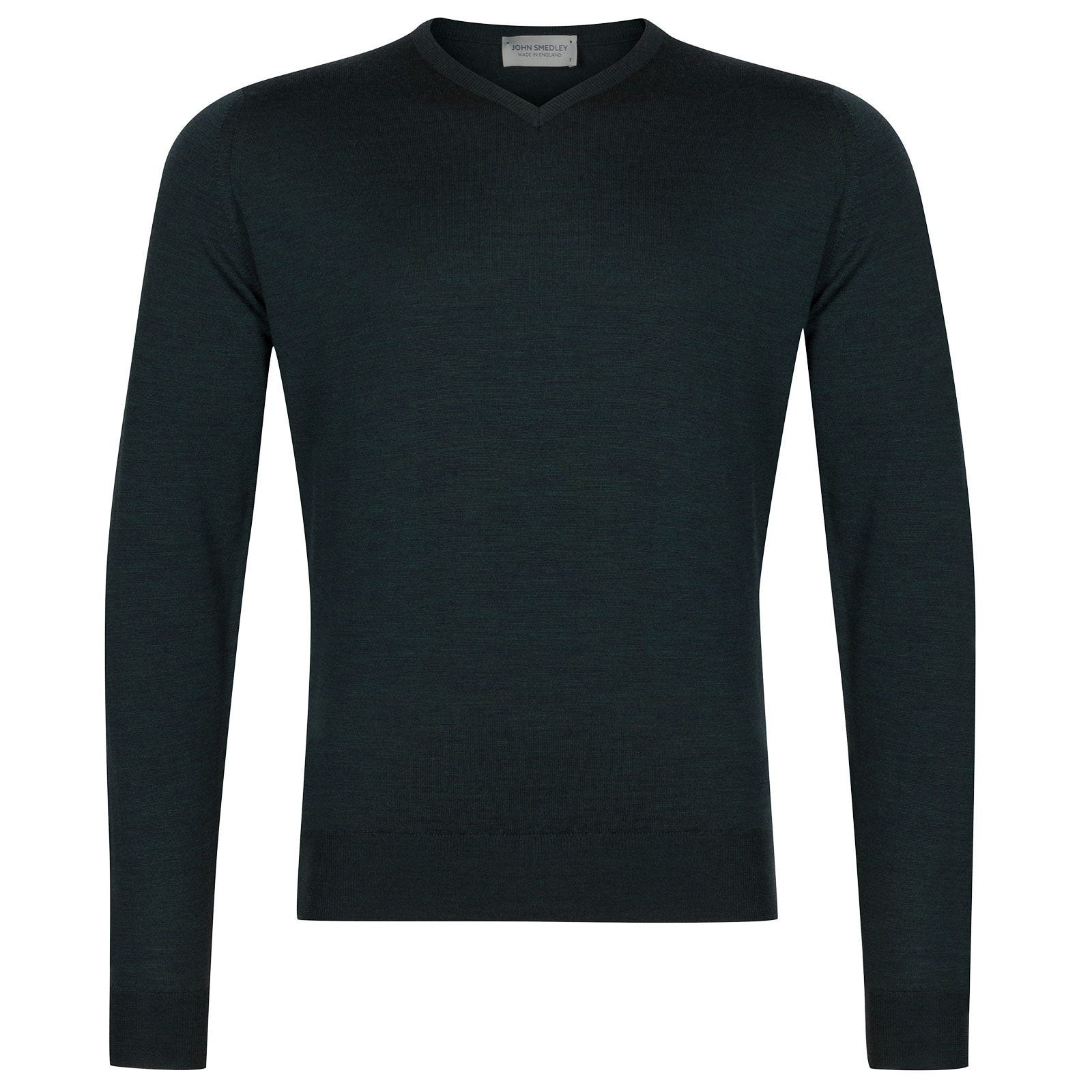 John Smedley Genoa Merino Wool Pullover in Racing Green-XXL