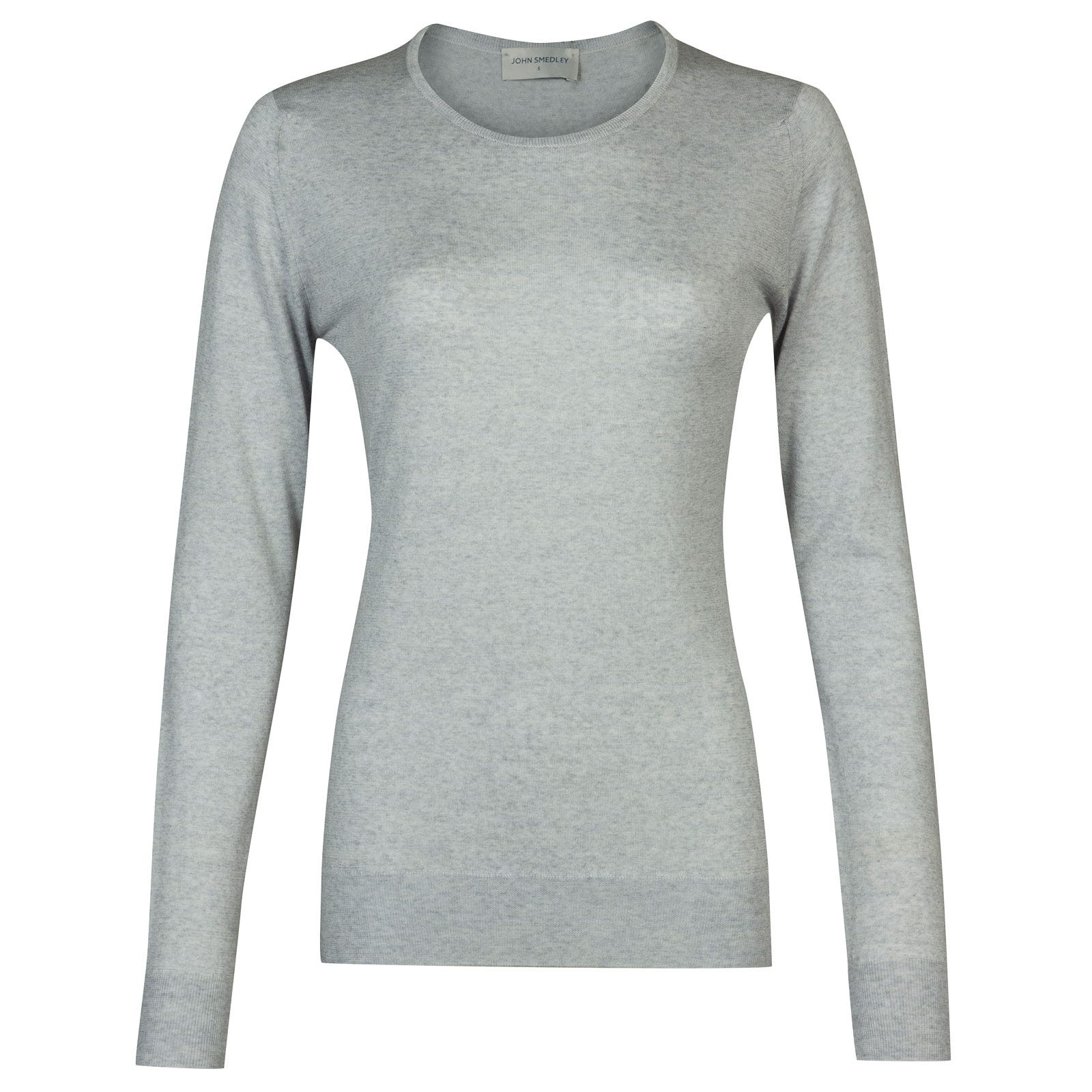 John Smedley geranium Merino Wool Sweater in Bardot Grey-M