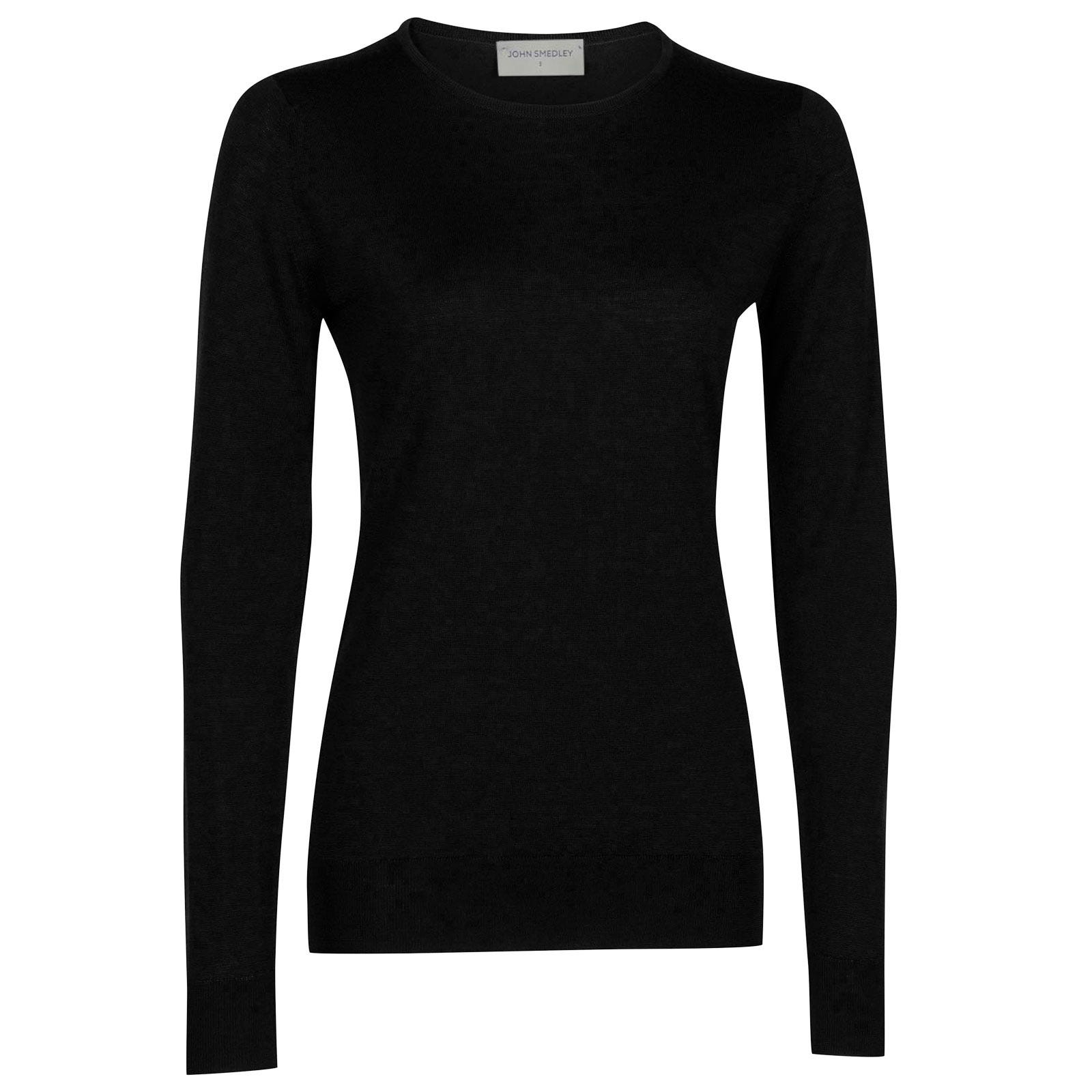 John Smedley geranium Merino Wool Sweater in Black-M