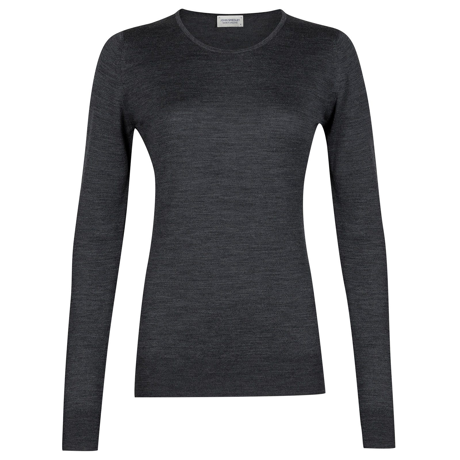 John Smedley geranium Merino Wool Sweater in Charcoal-L