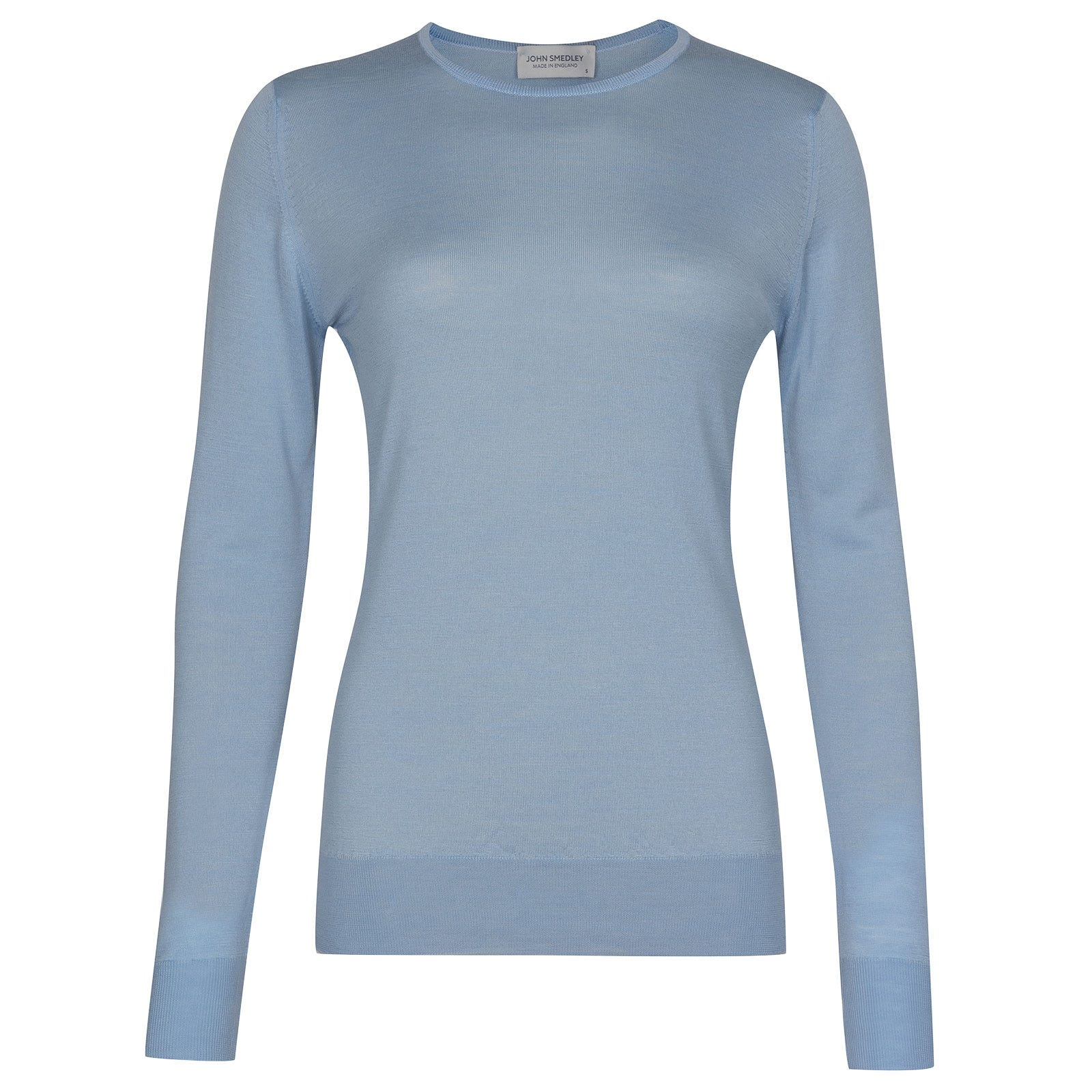 John Smedley Geranium in Dusk Blue Merino Wool Sweater-LGE