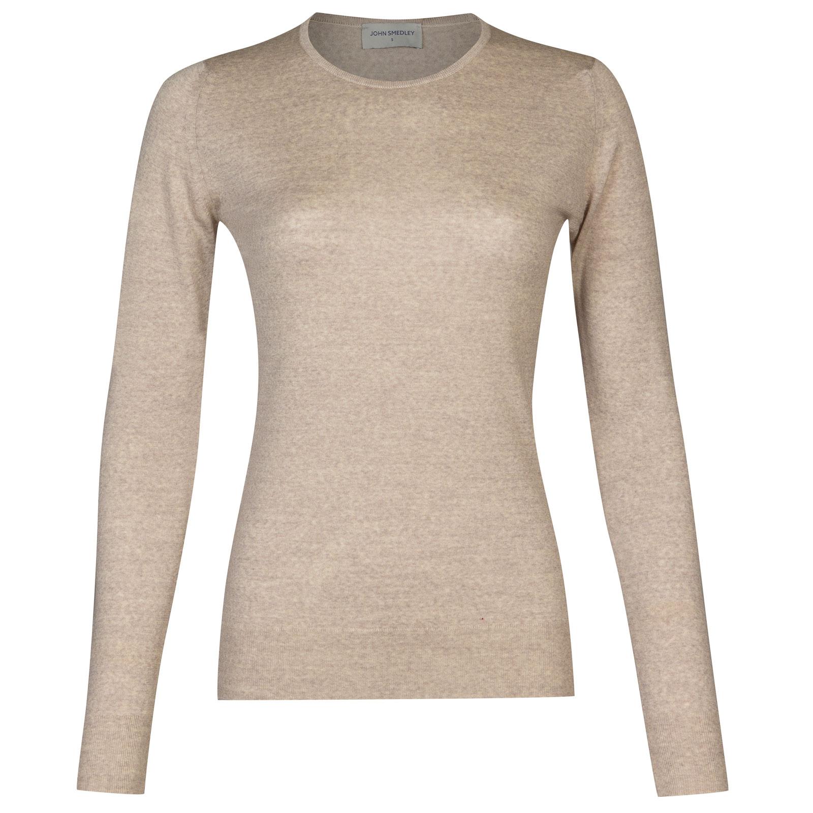John Smedley geranium Merino Wool Sweater in Eastwood Beige-XL