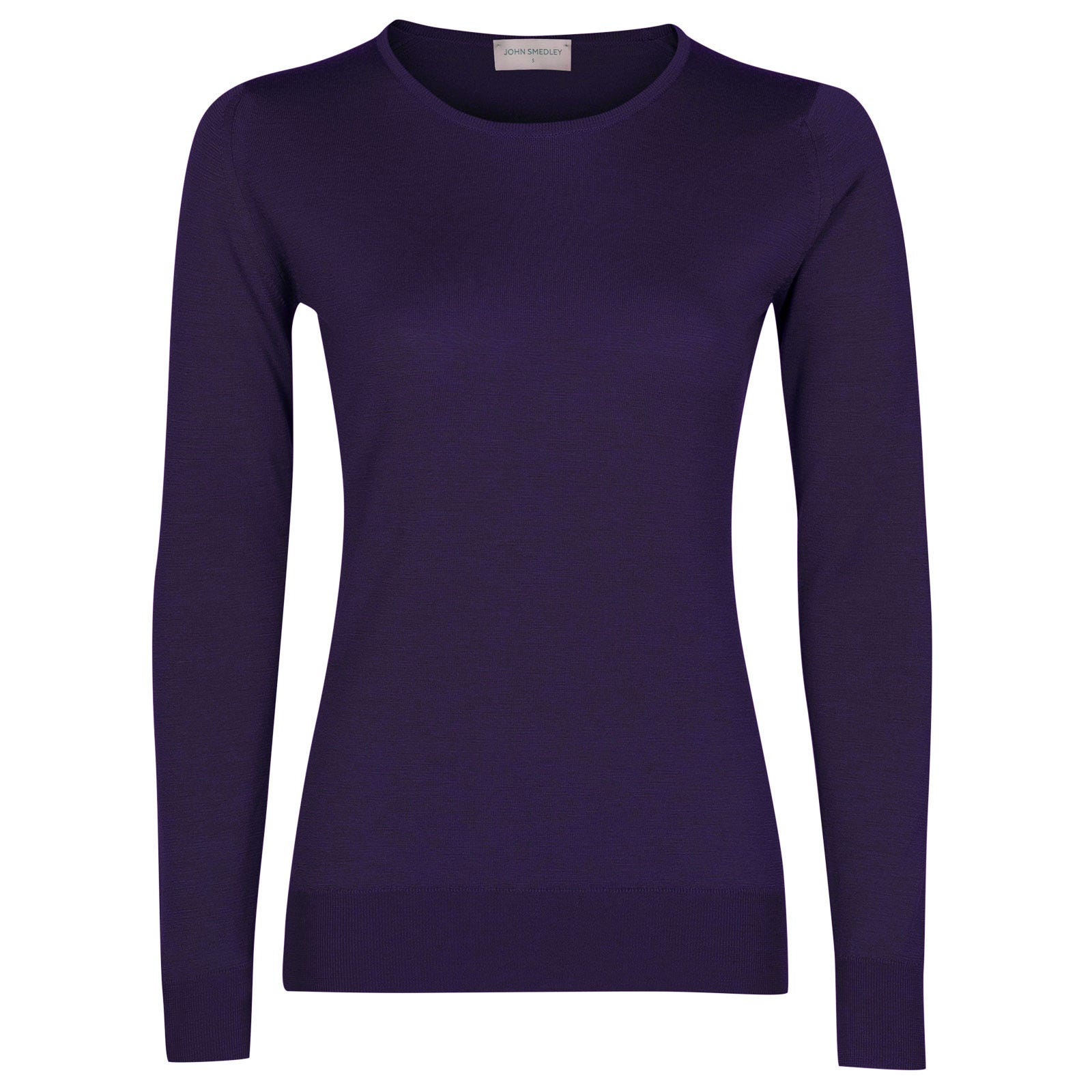 John Smedley geranium Merino Wool Sweater in Elderberry Purple-L
