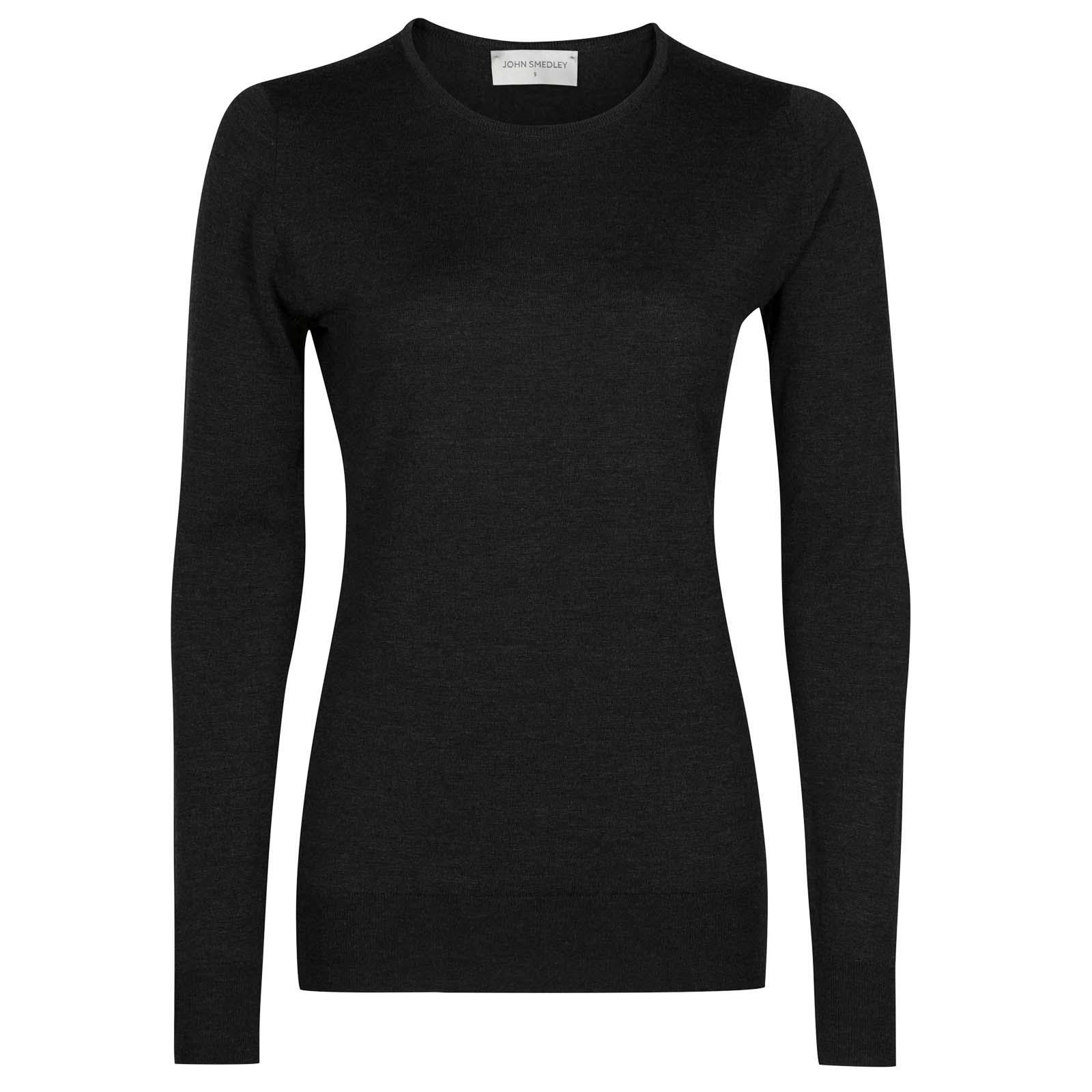 John Smedley geranium Merino Wool Sweater in Hepburn Smoke-L