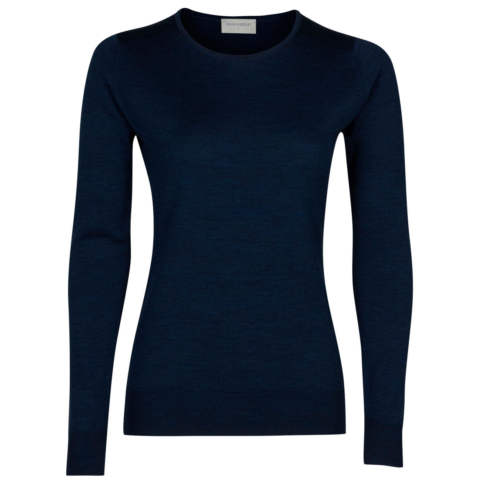 John Smedley geranium Merino Wool Sweater in Indigo-XL