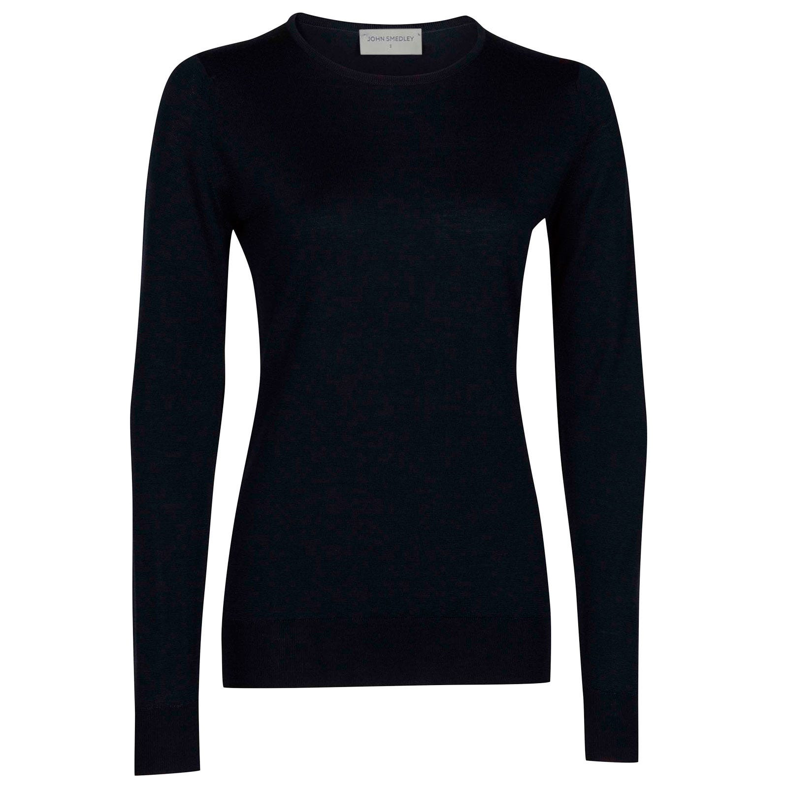 John Smedley geranium Merino Wool Sweater in Midnight-S