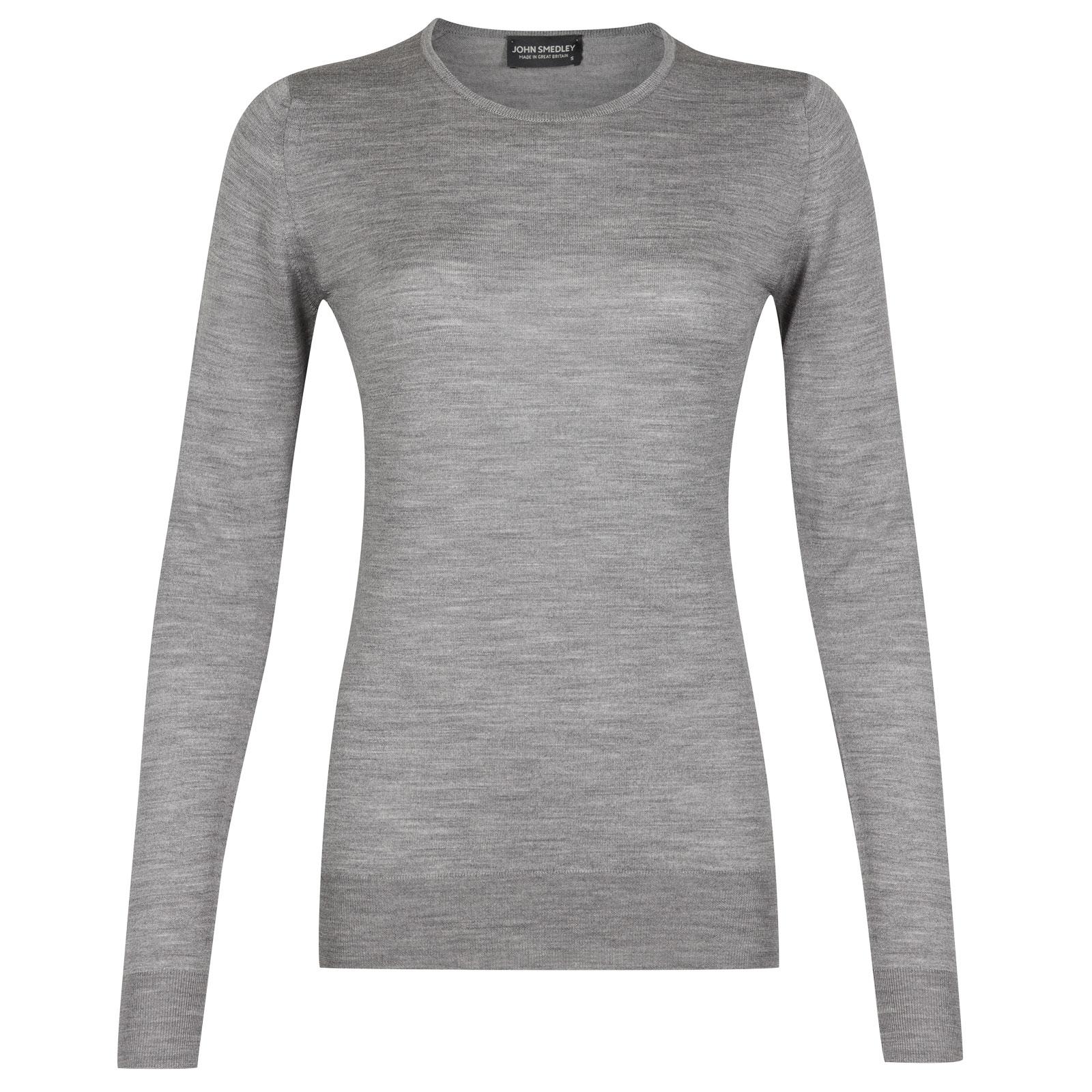 John Smedley geranium Merino Wool Sweater in Silver-XL