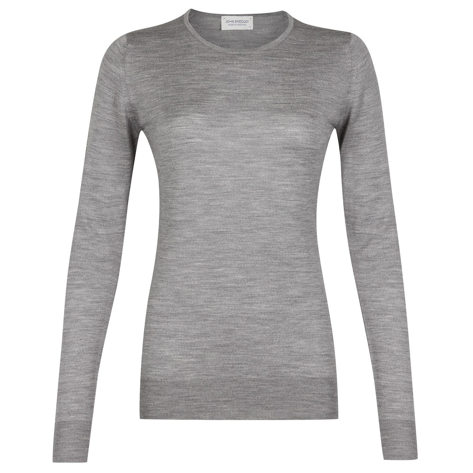 John Smedley geranium Merino Wool Sweater in Silver-XL