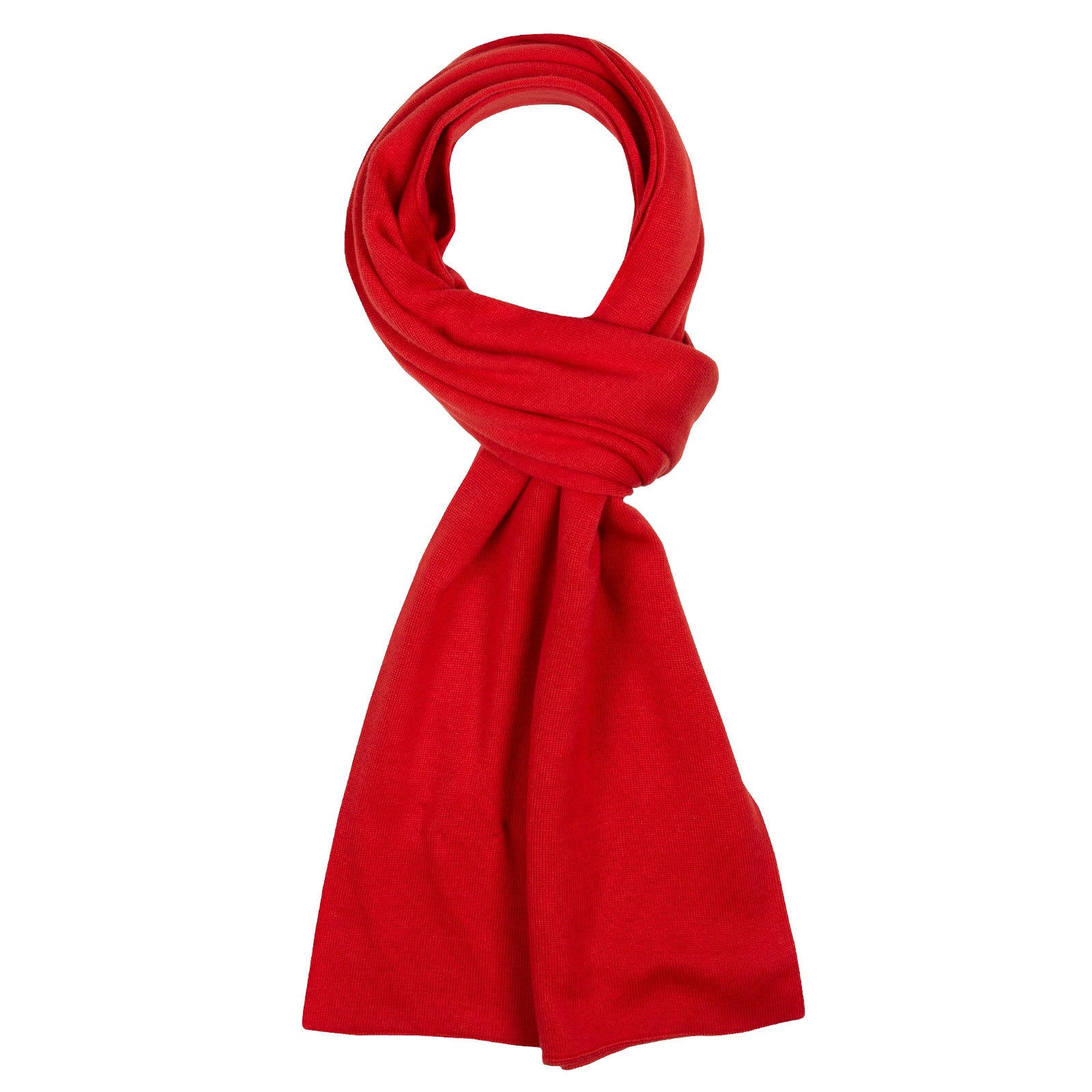 John Smedley Glide in Red Admiral Scarf-ONE