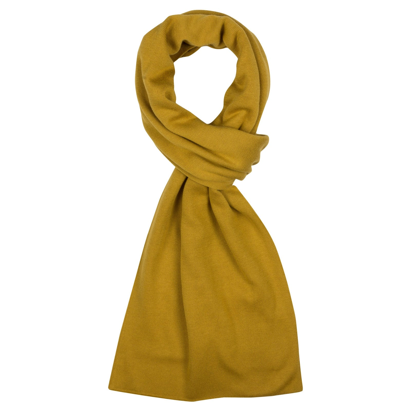 John Smedley Glide in Stamen Yellow Scarf-ONE