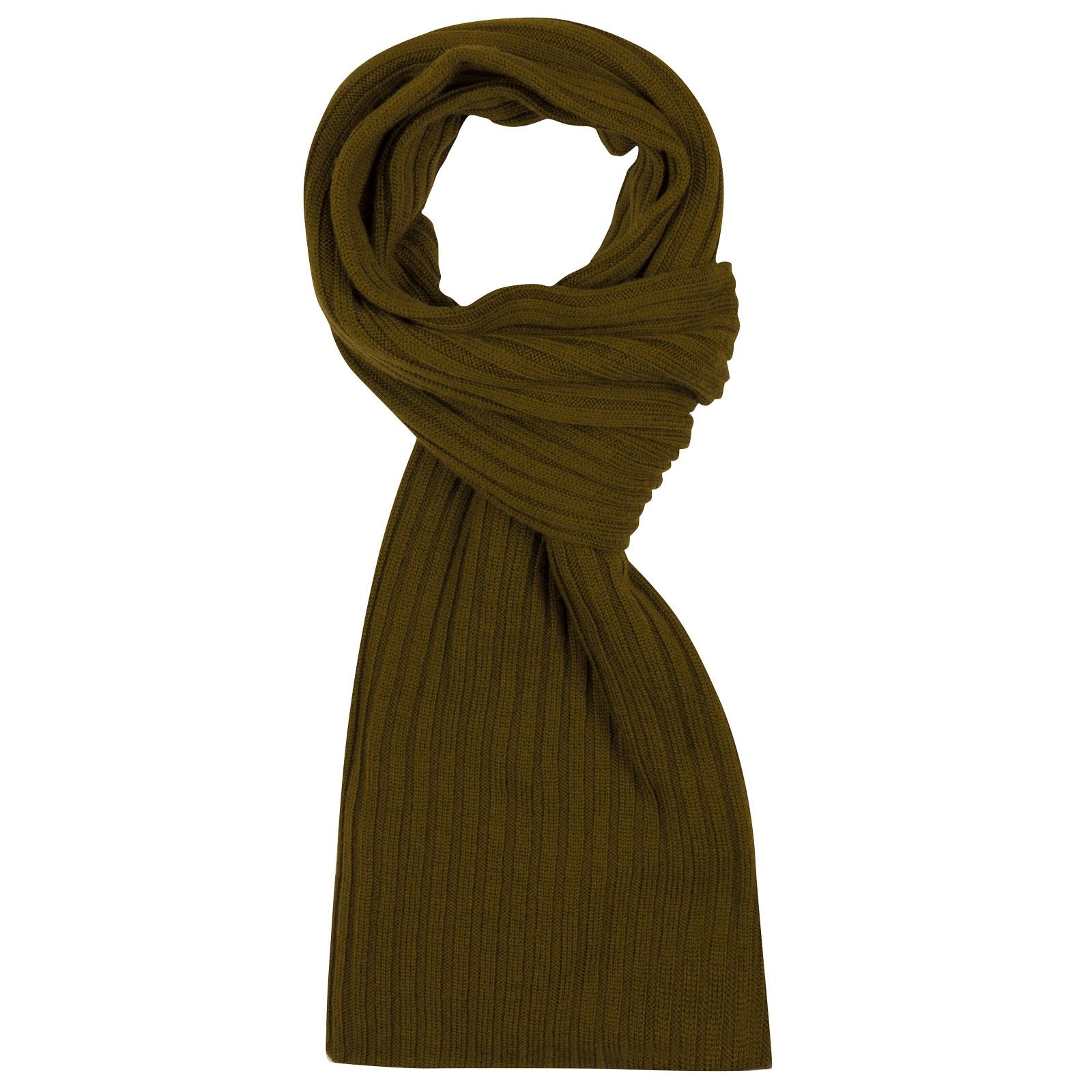 John Smedley Global Merino Wool Scarf in Khaki-ONE