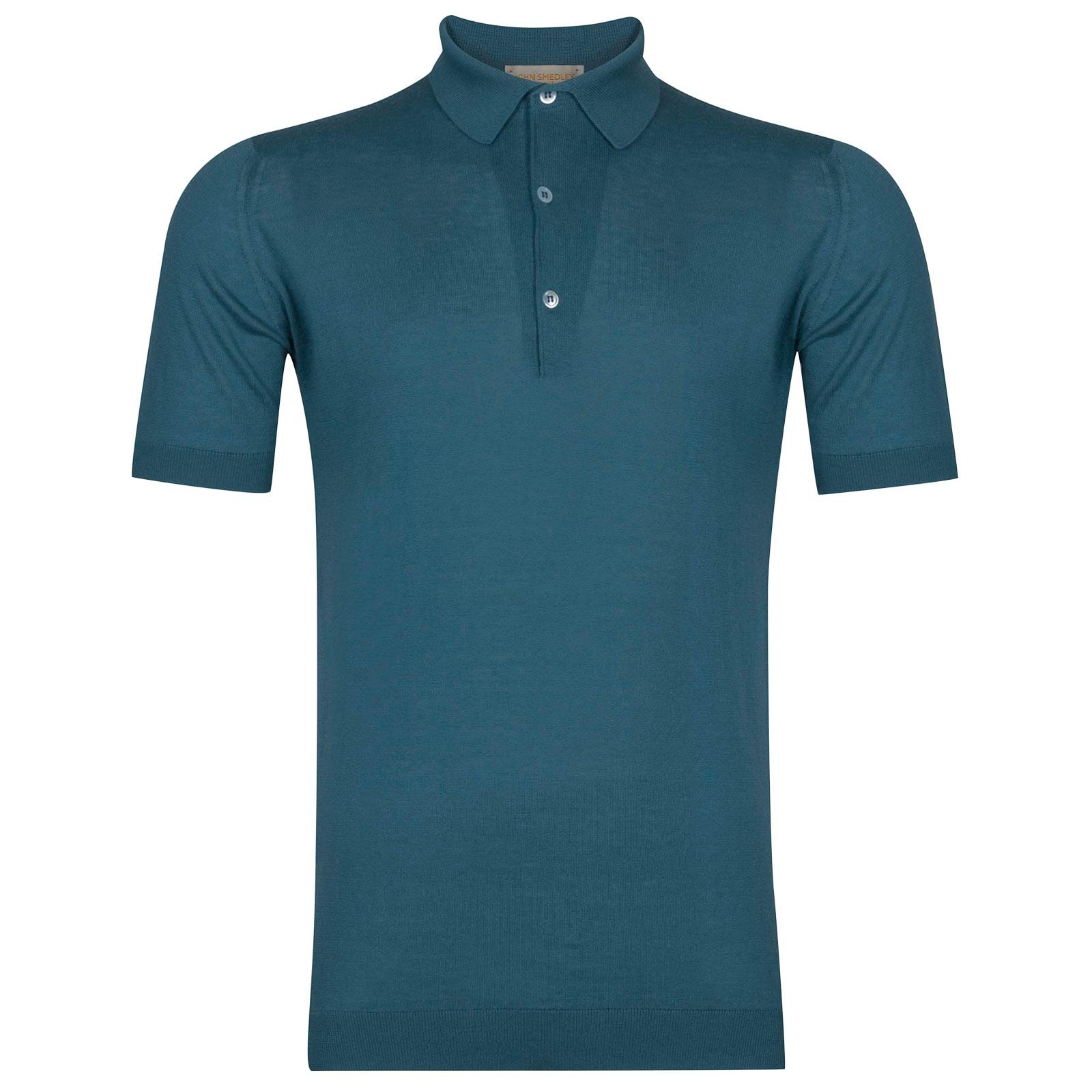 John Smedley Haddon Sea Island Cotton and Cashmere Shirt in Bias