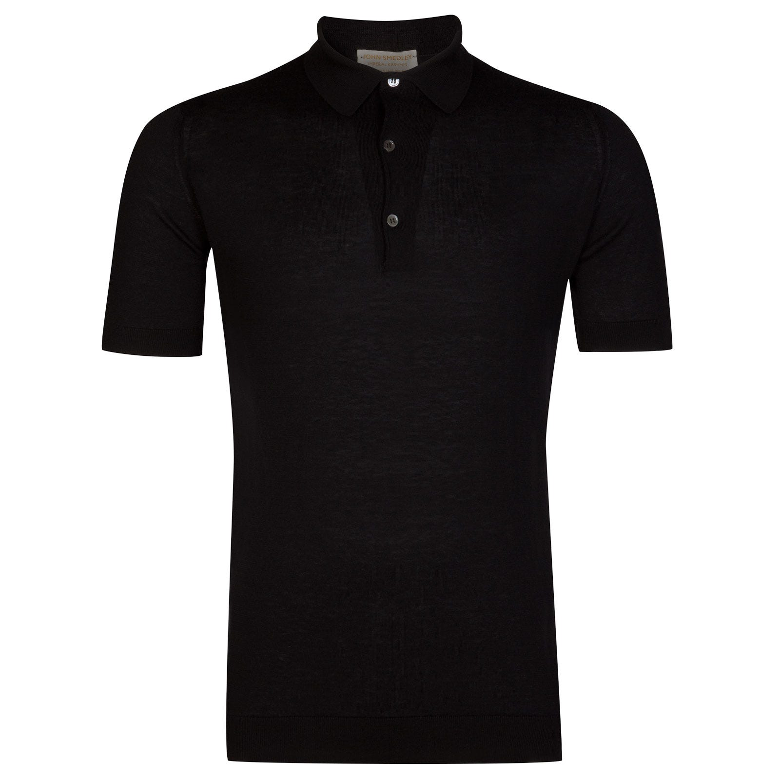 John Smedley Haddon Sea Island Cotton and Cashmere Shirt in Black-XL
