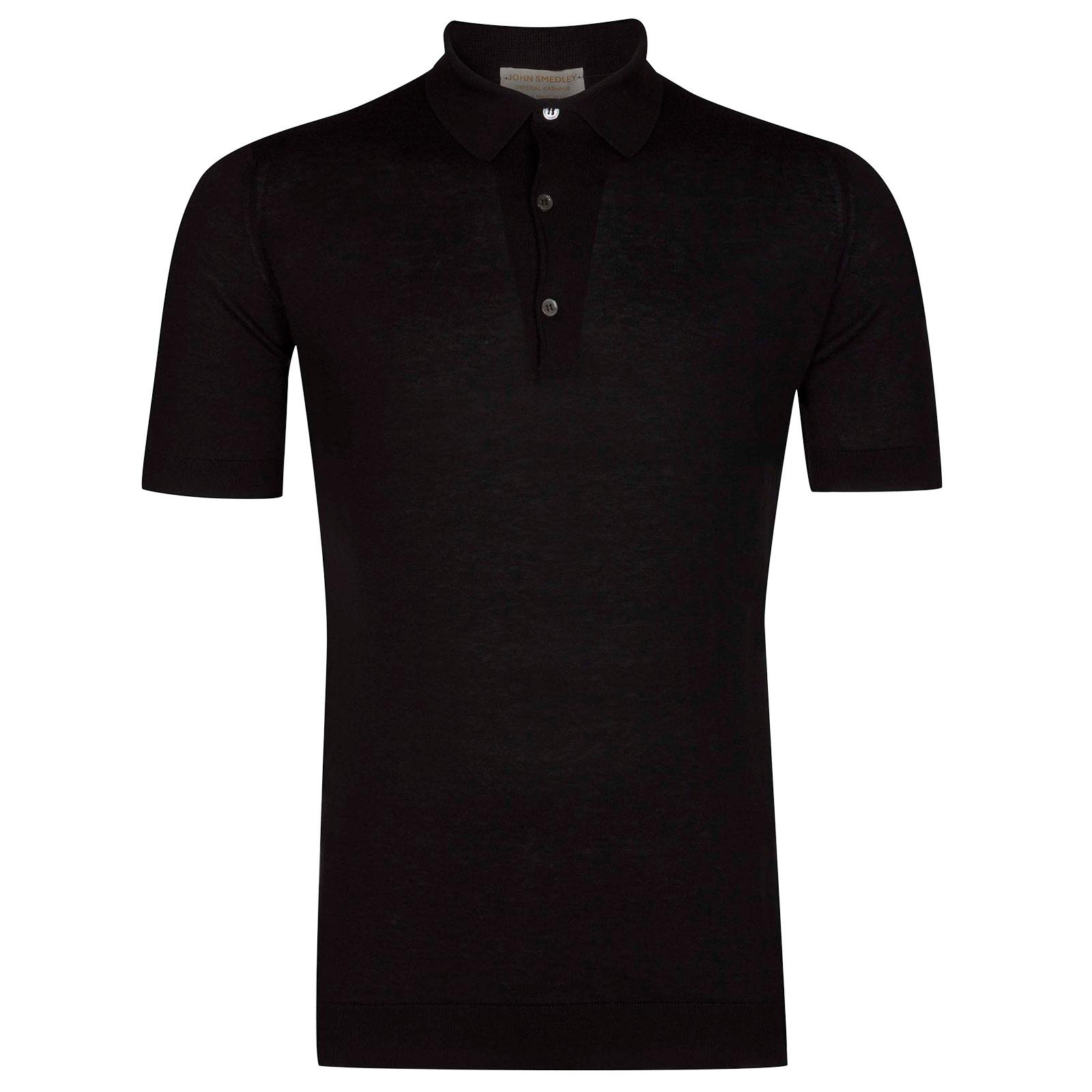 John Smedley Haddon in Black Shirt-XLG