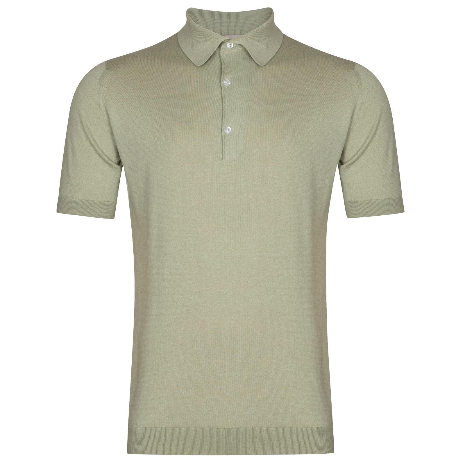 John Smedley Haddon in Burlap Green Shirt-SML